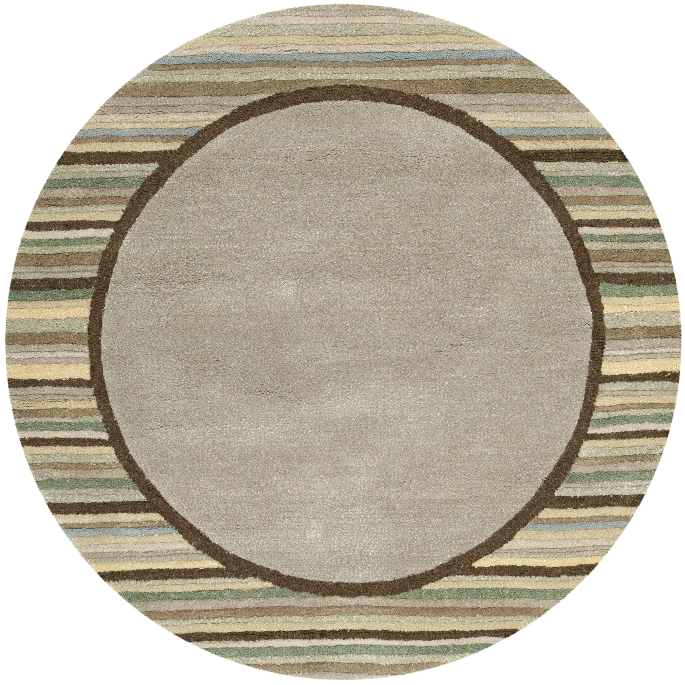 Hand-Woven Tadpole Green Area Rug Rug Size: Round 8' x 8'