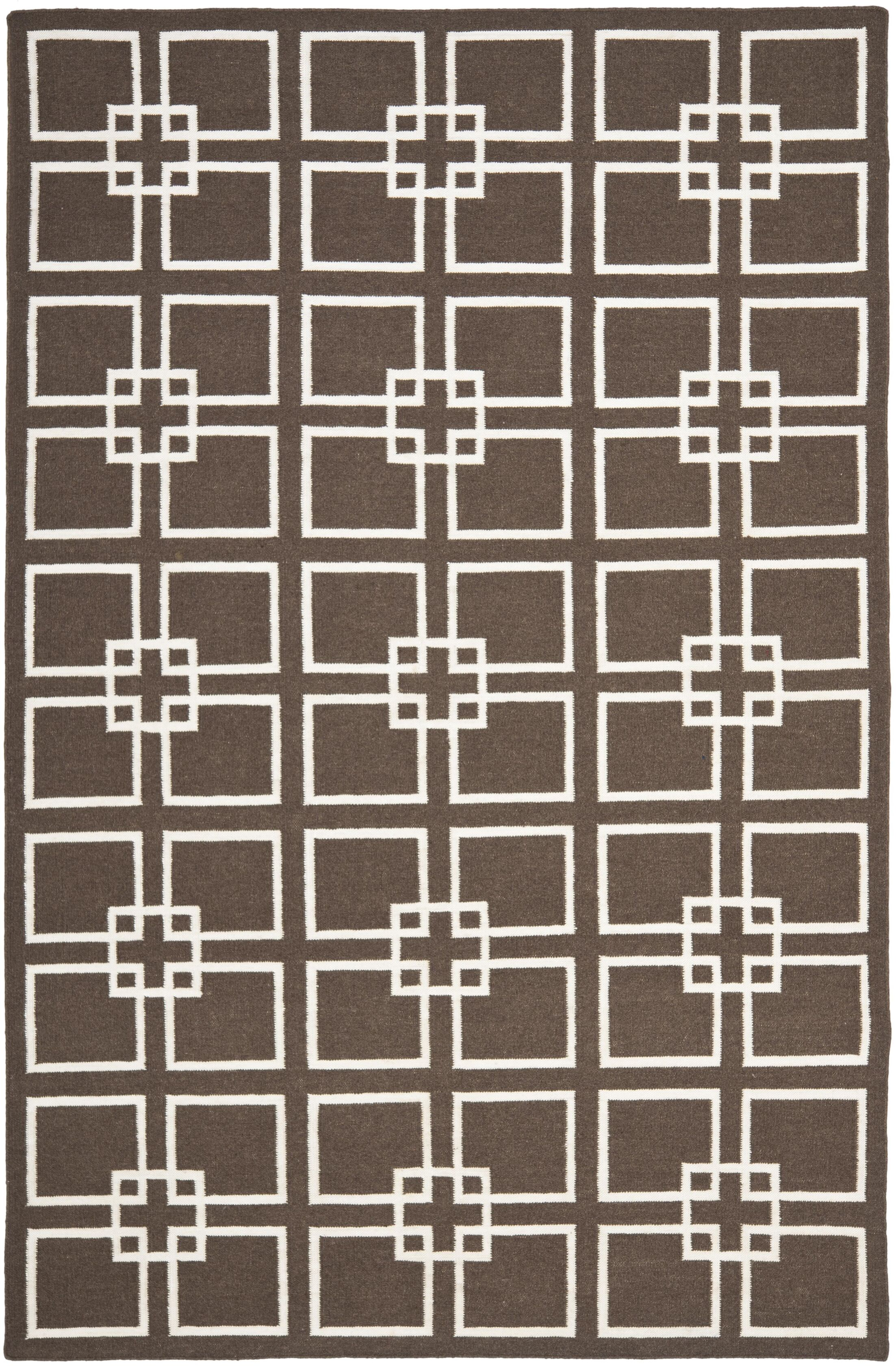 Dance Hand-Tufted Soil Brown Area Rug Rug Size: Rectangle 4' x 6'