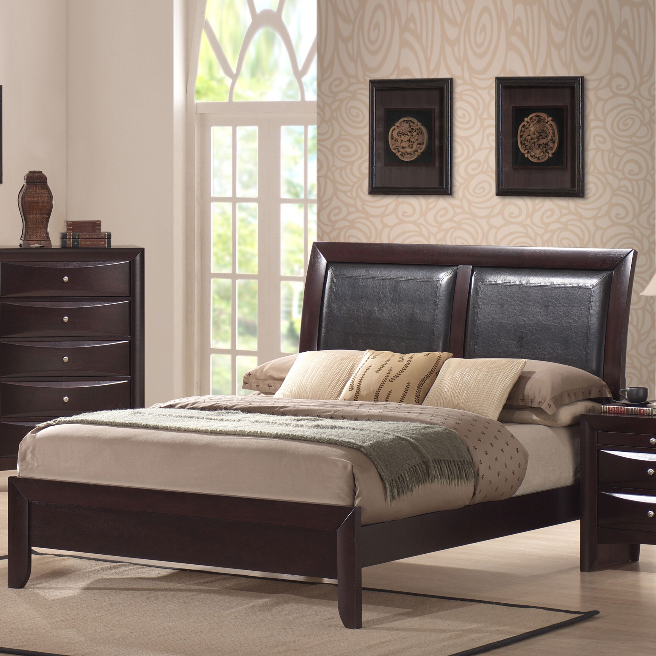 Archer Upholstered Panel Bed Size: Queen