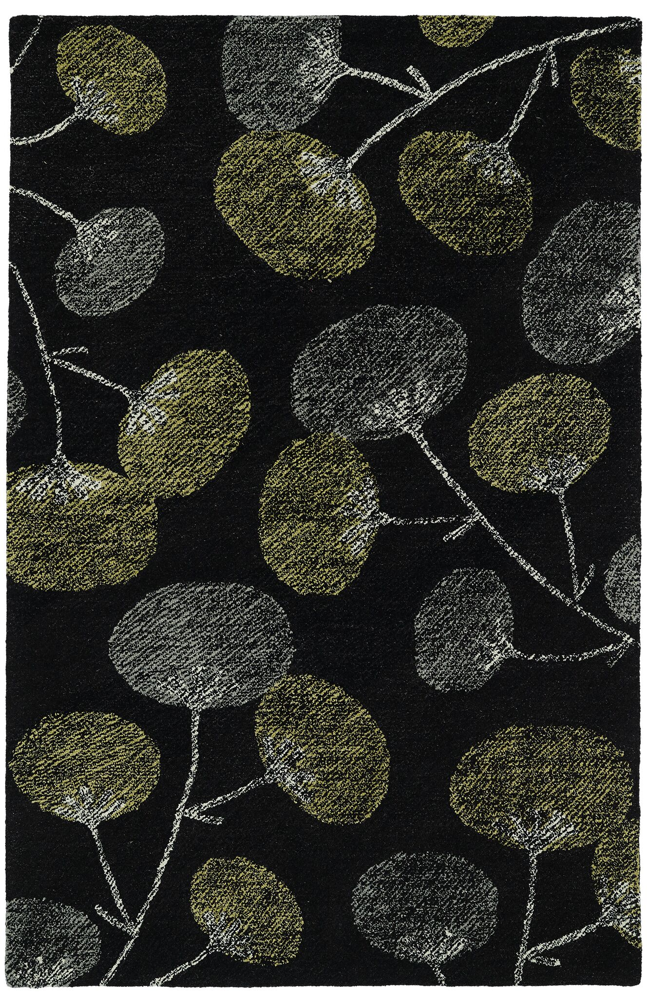 Hand-Tufted Black Area Rug Rug Size: Rectangle 5' x 9'