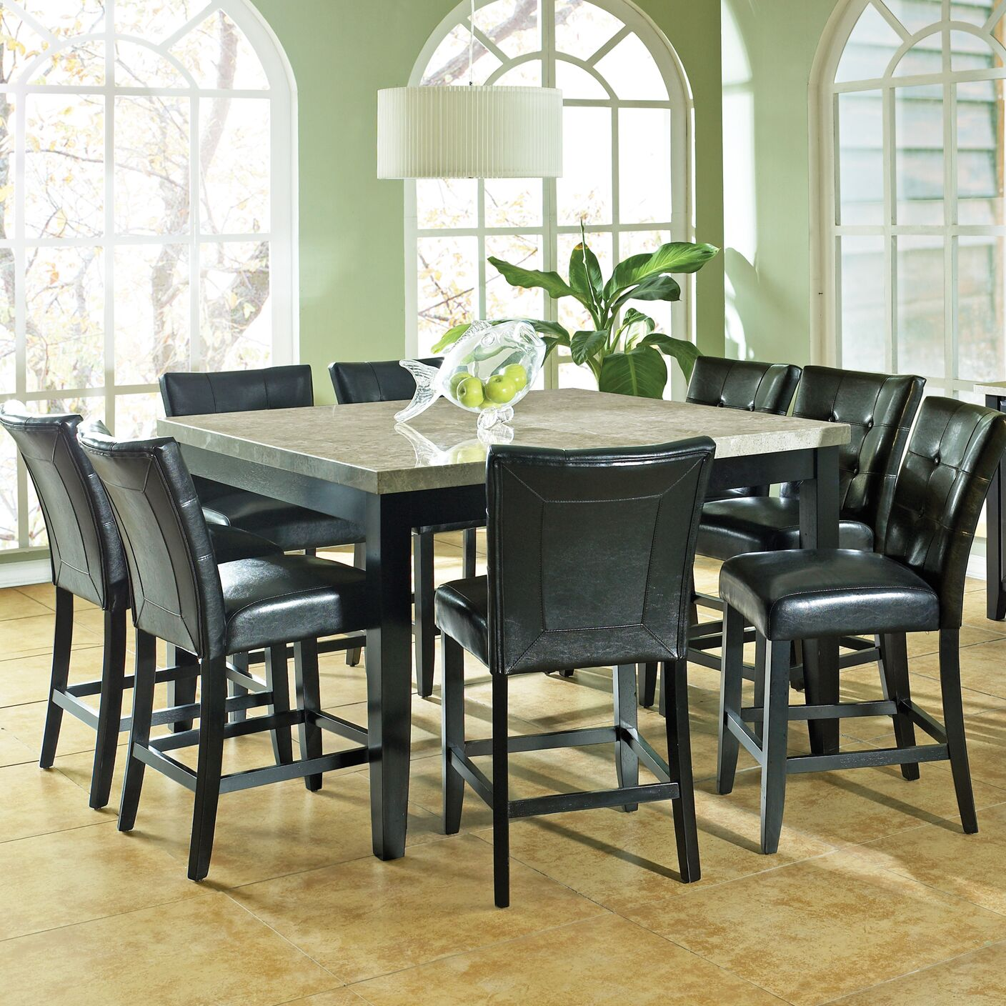 Dining Table Sets Chloe 9 Piece Counter Height Dining Set