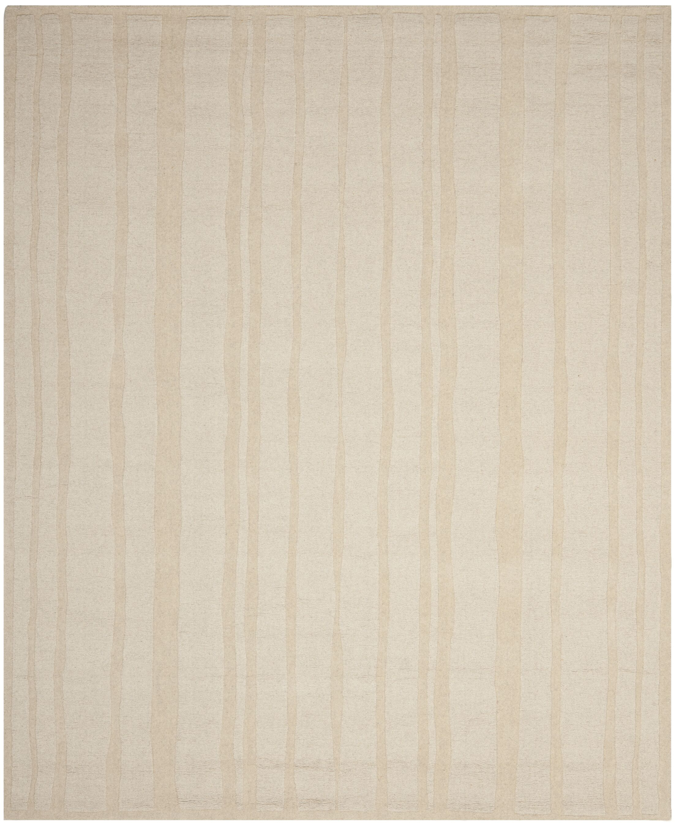 Freehand Stripe Hand-Loomed Mossy Rock Area Rug Rug Size: Rectangle 5' x 8'