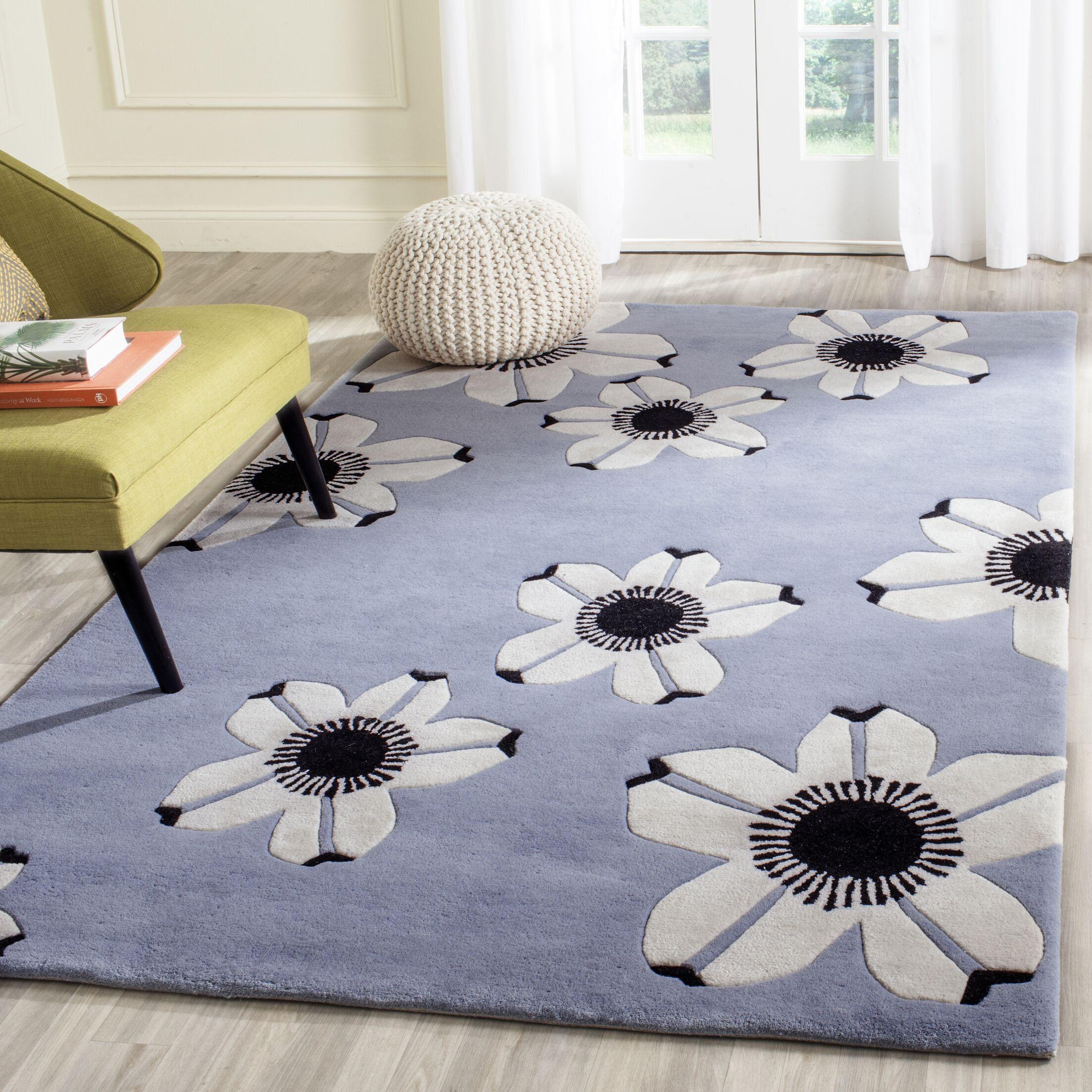 Ludowici Blue Area Rug Rug Size: Rectangle 5' x 8'