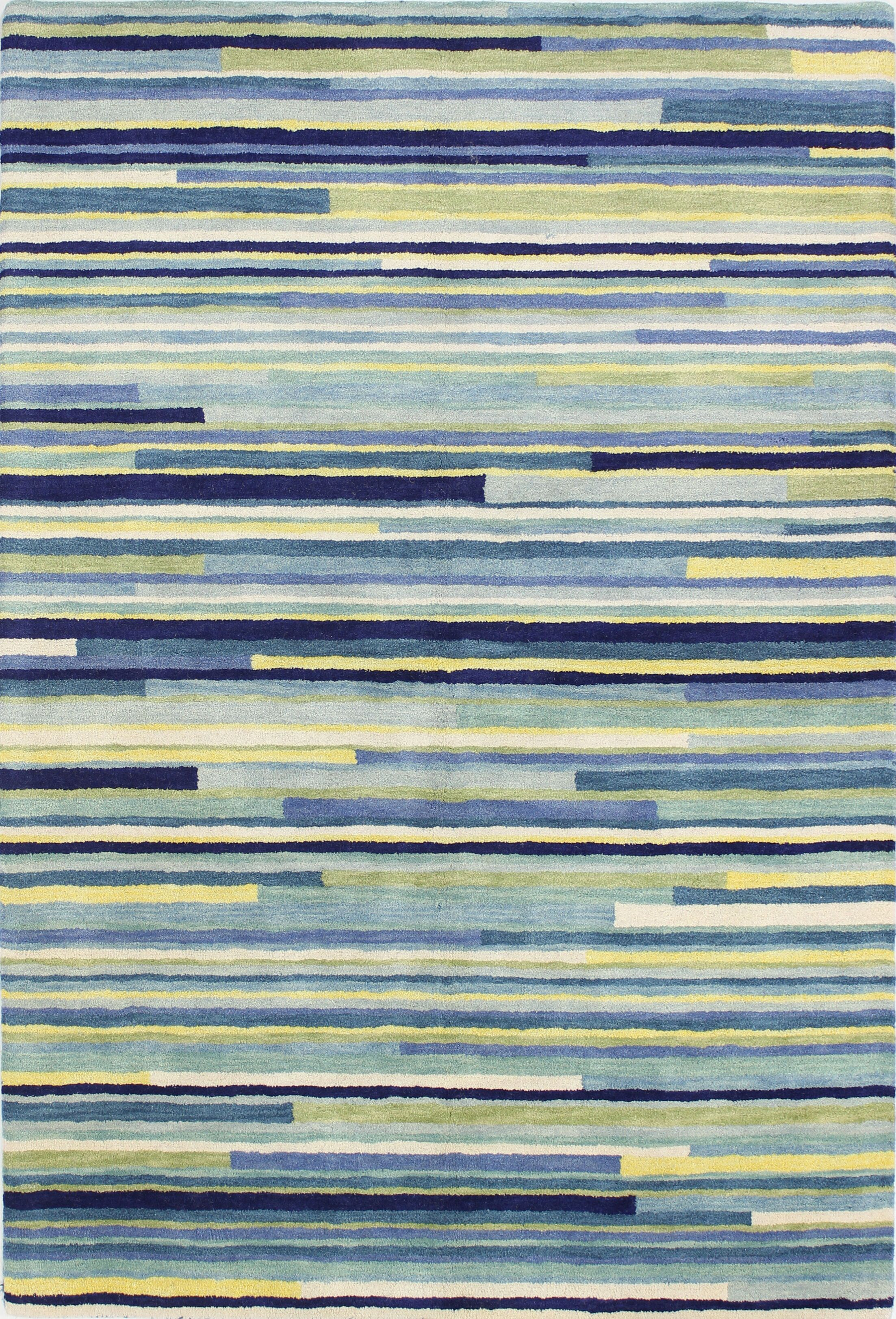 Baliny Hand-Tufted Blue Area Rug