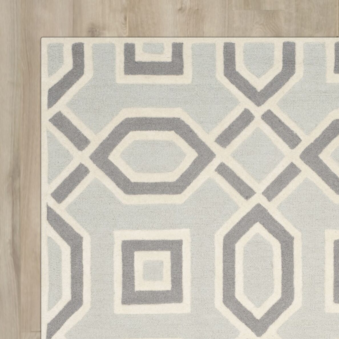 Arthur Hand-Tufted Grey / Ivory Indoor Area Rug Rug Size: Runner 2'6