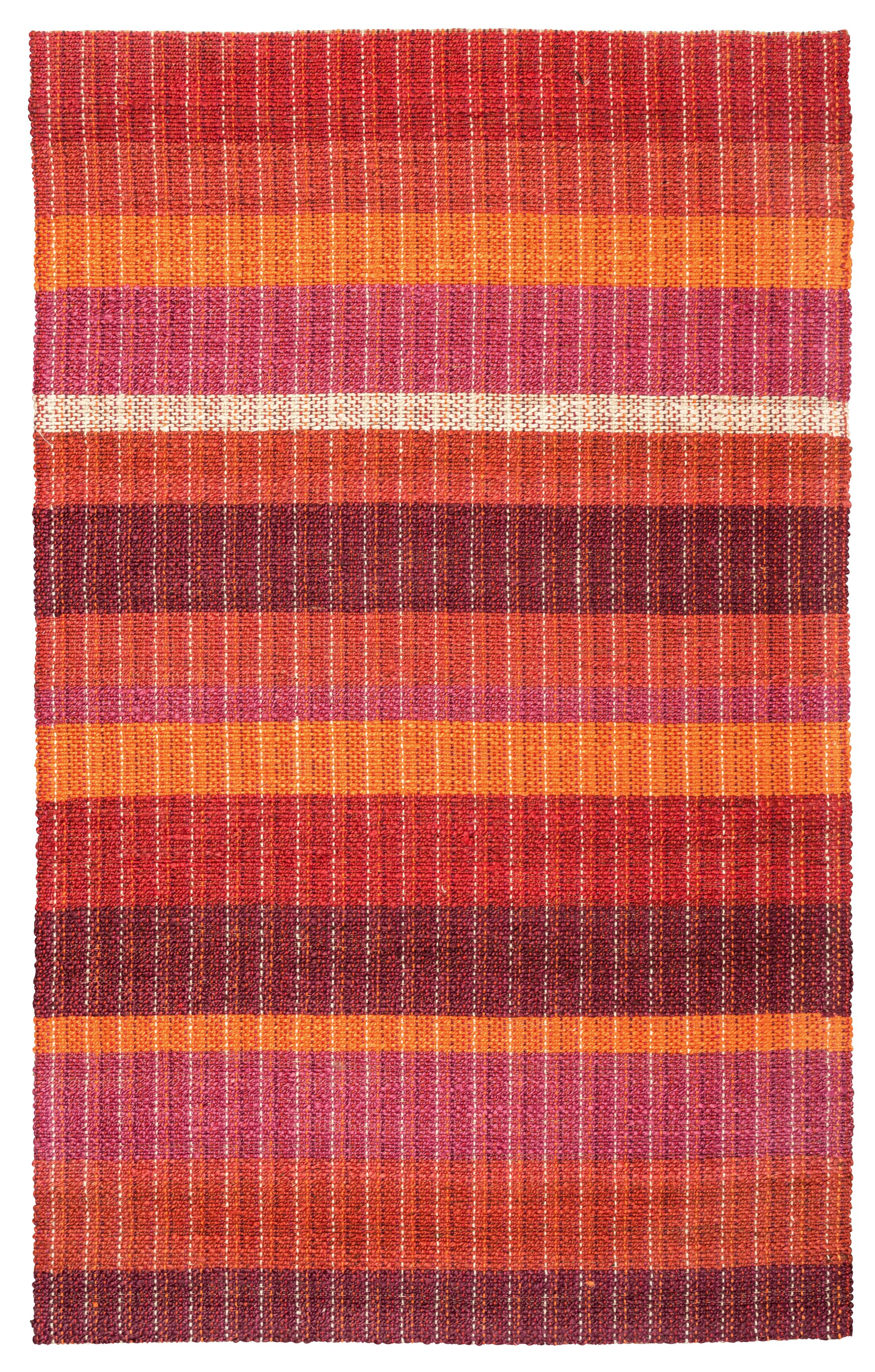 Rosella Hand-Braided Sunrise Area Rug Rug Size: 5' x 8'