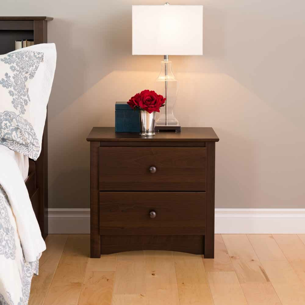 Adah 2 Drawer Nightstand
