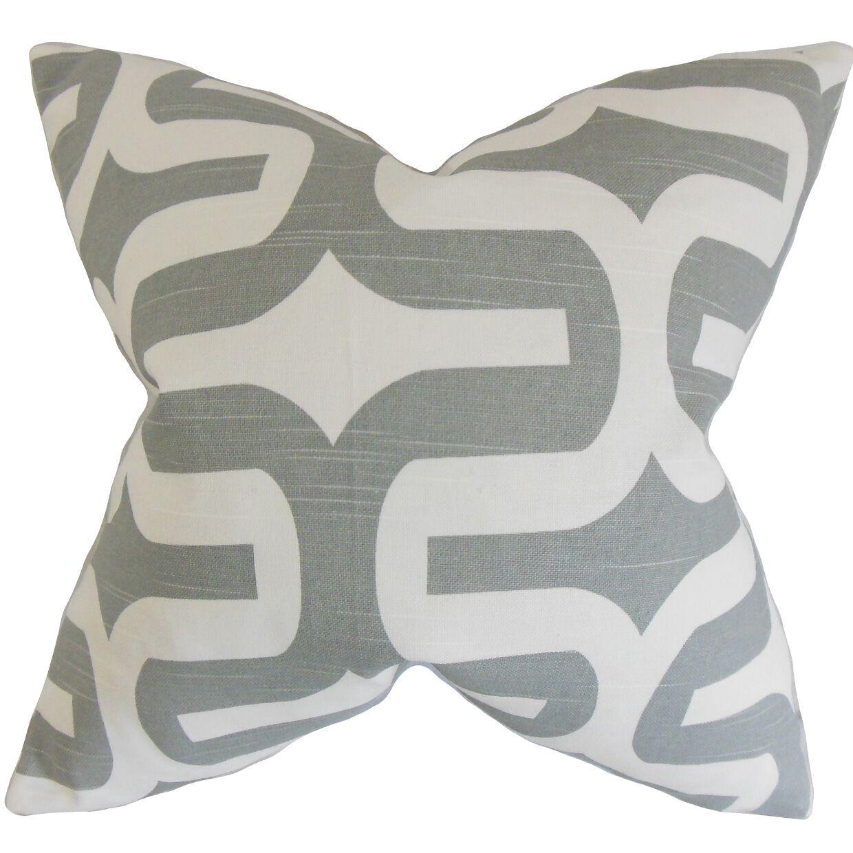 Suzanne Geometric Bedding Sham Size: King, Color: Ash Gray