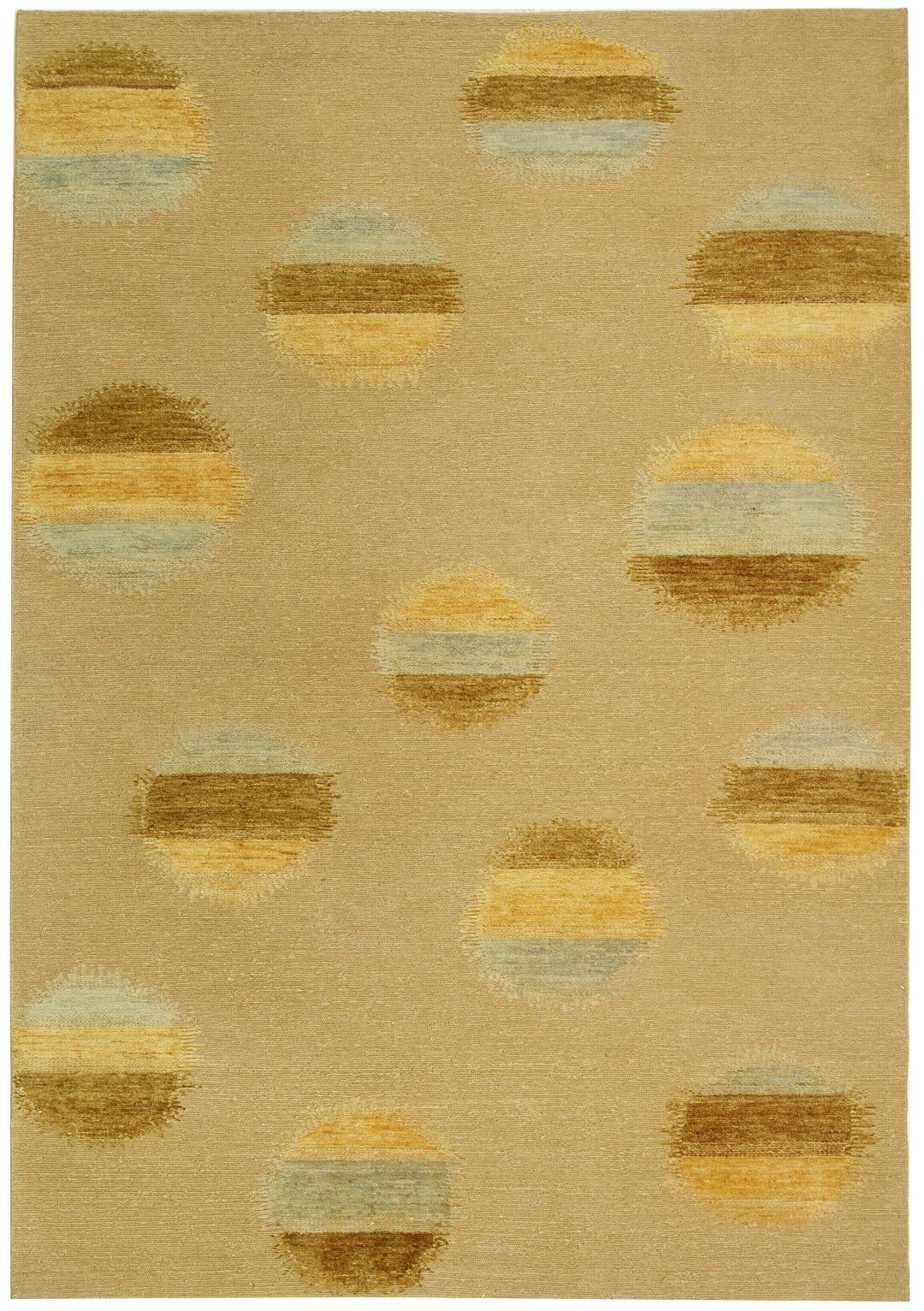 Valerie Hand-Knotted Beige Area Rug Rug Size: Rectangle 8' x 10'