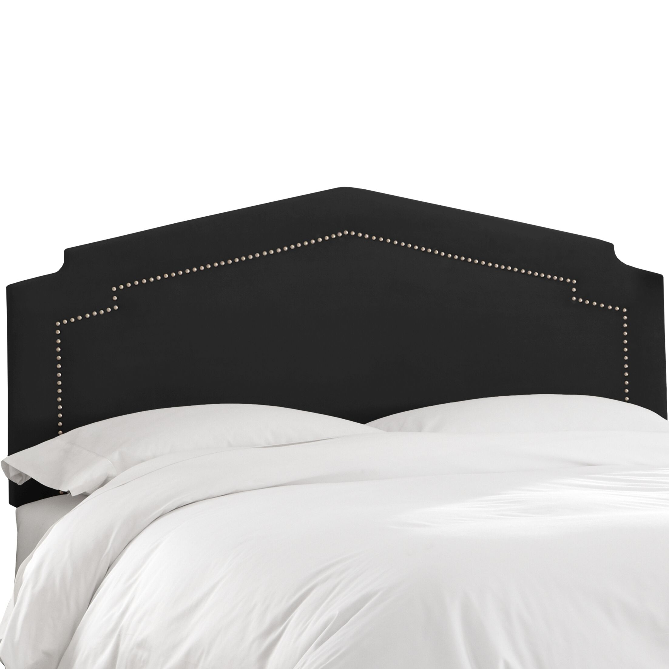 Andy Upholstered Panel Headboard Size: Full, Upholstery Color: Black