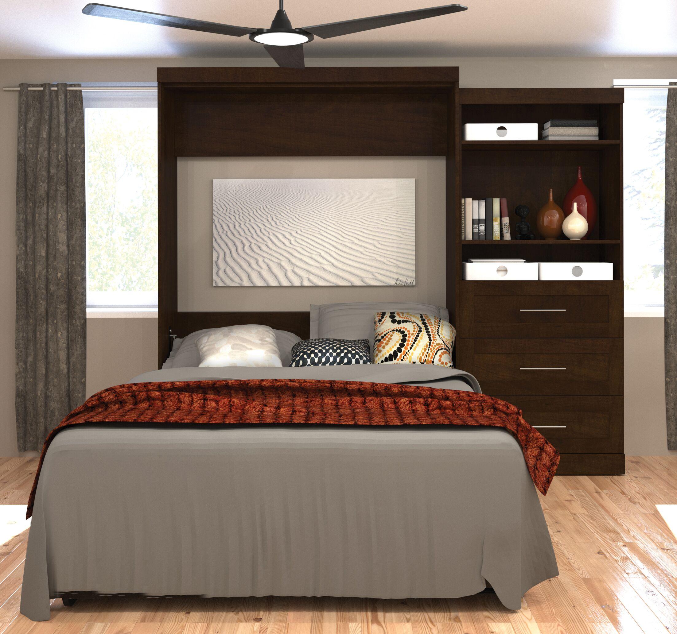 Roslyn Queen Murphy Bed Color: Chocolate