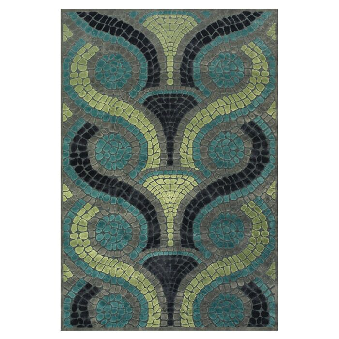 Colin Blue/Yellow Area Rug Rug Size: Rectangle 5'3