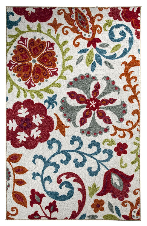 Rae Idas Garden Multi Printed Area Rug Rug Size: Rectangle 7'6