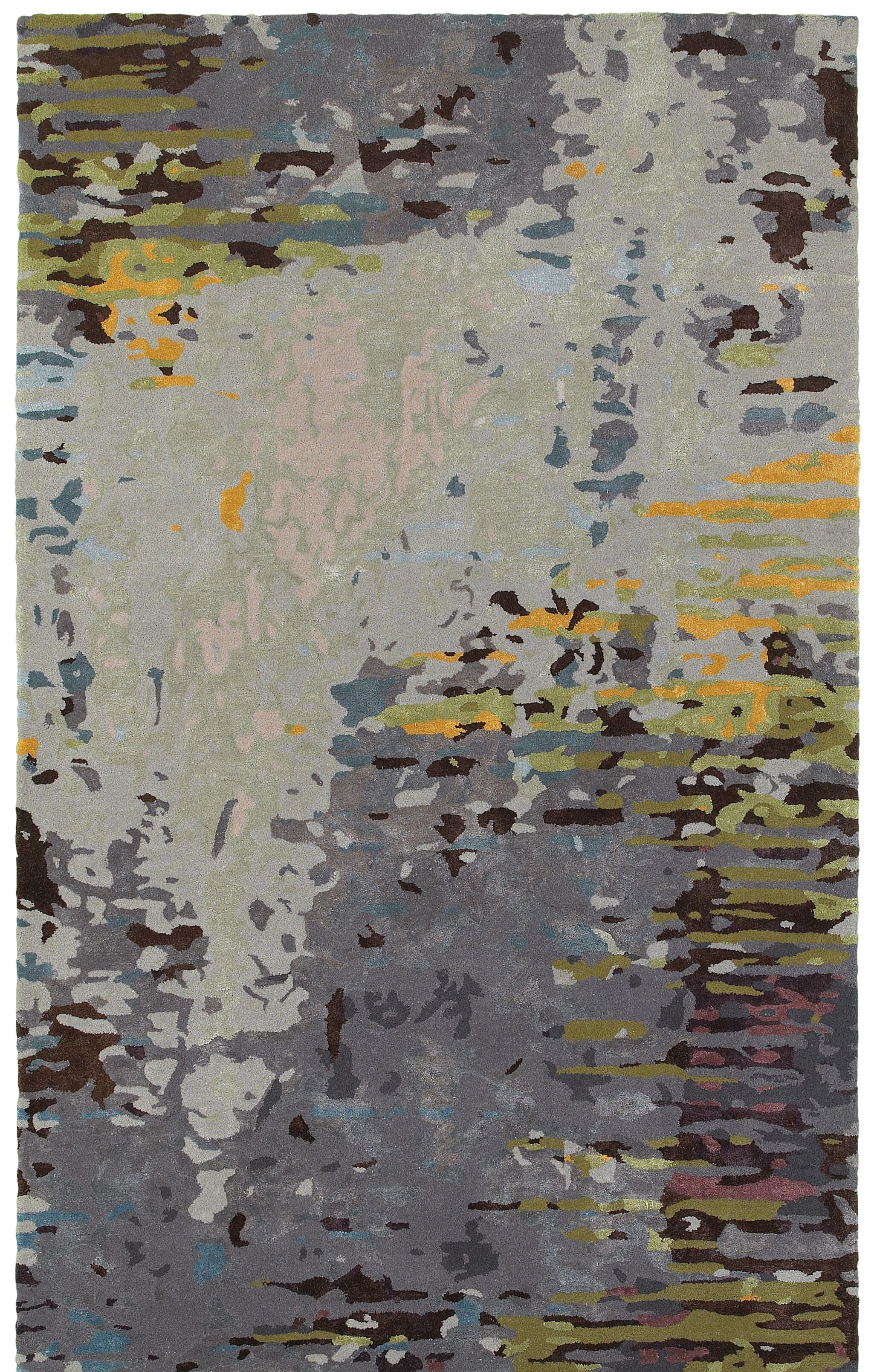 Wora Hand-Crafted Gray Area Rug Rug Size: Rectangle 8' x 10'