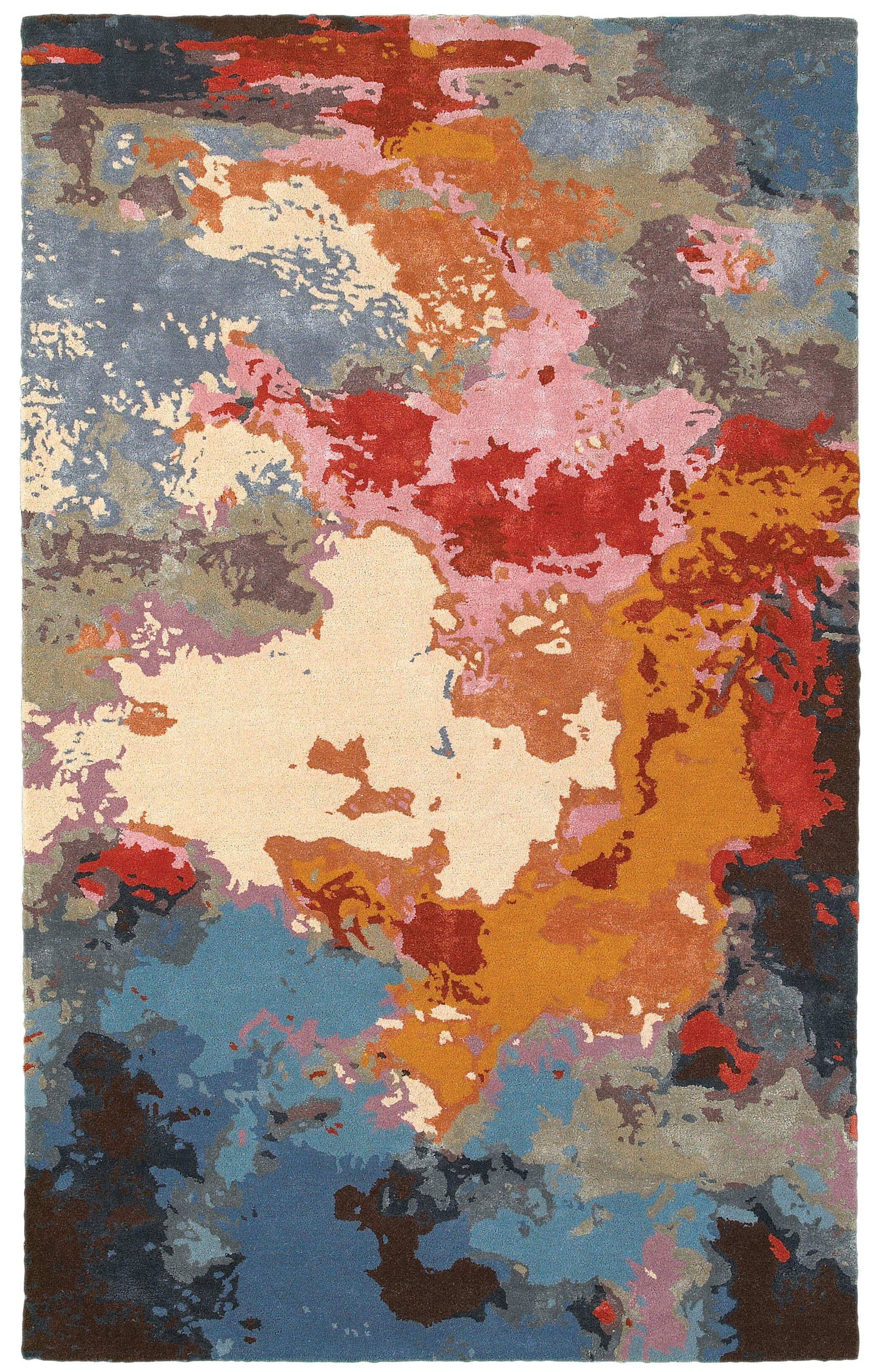 Wora Hand-Crafted Pink Area Rug Rug Size: Rectangle 4'11