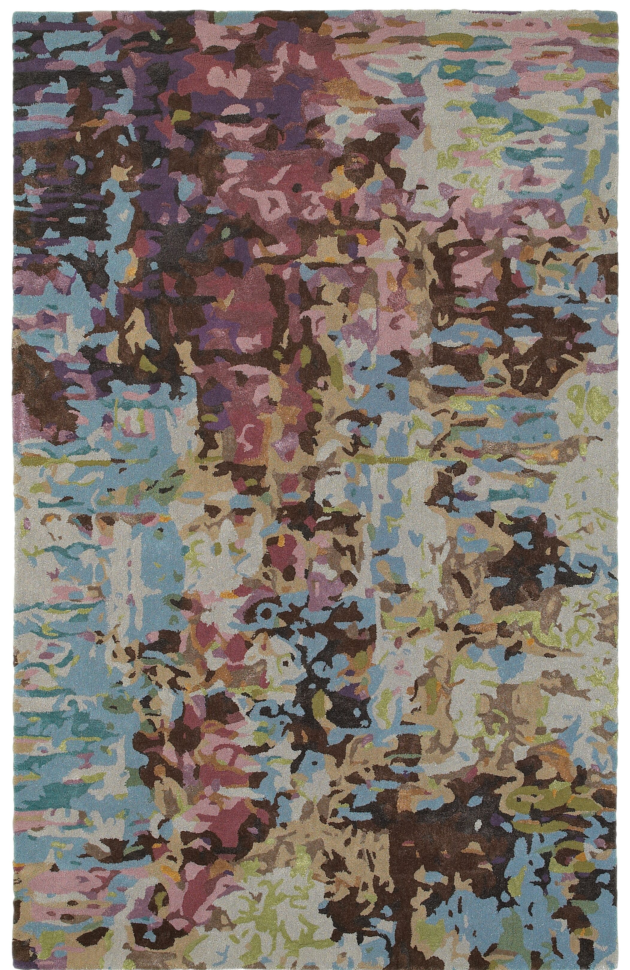 Wora Hand-Crafted Blue Area Rug Rug Size: Rectangle 10' x 12'11