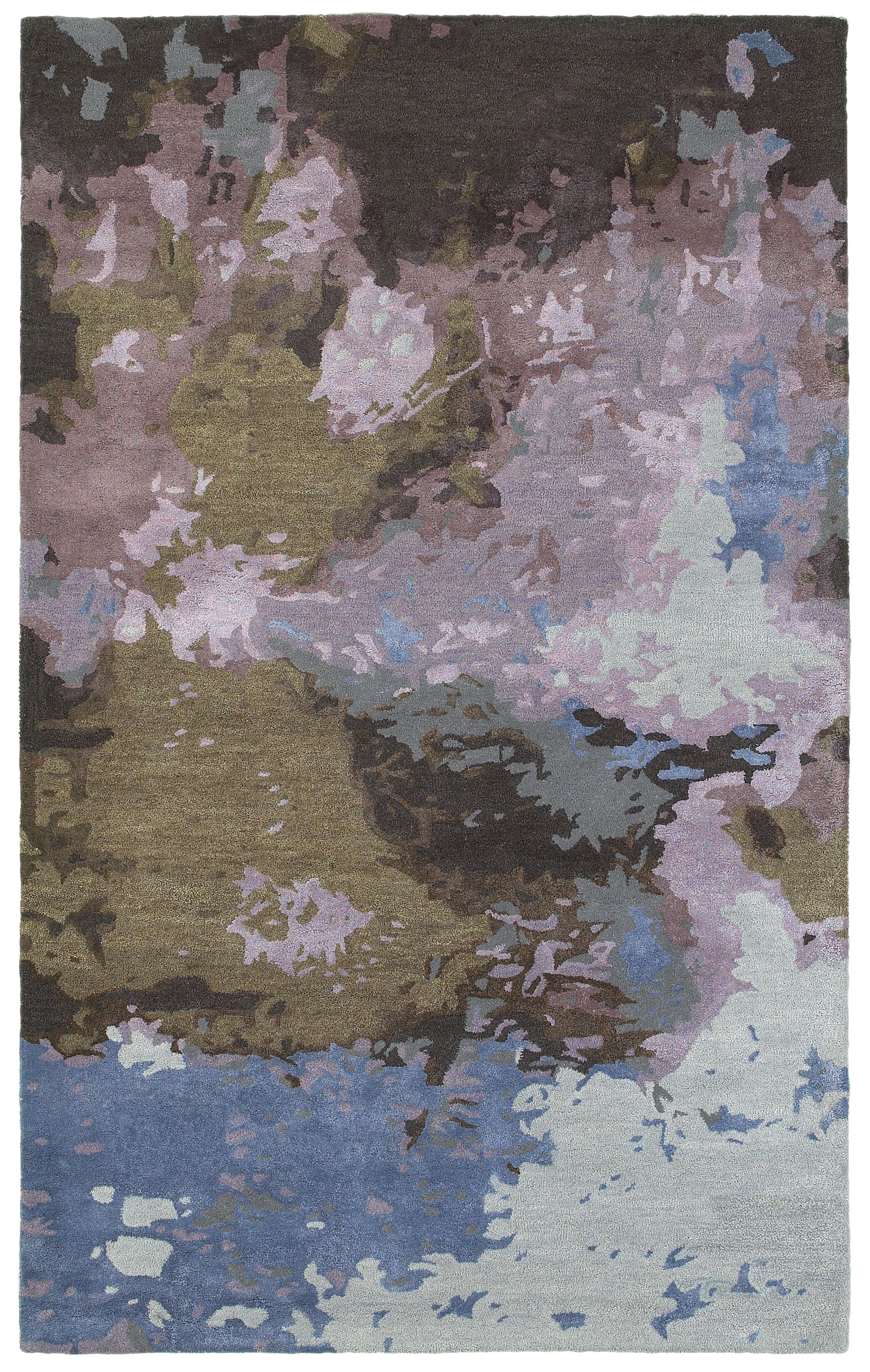 Wora Hand-Crafted Blue/Purple Area Rug Rug Size: Rectangle 4'11