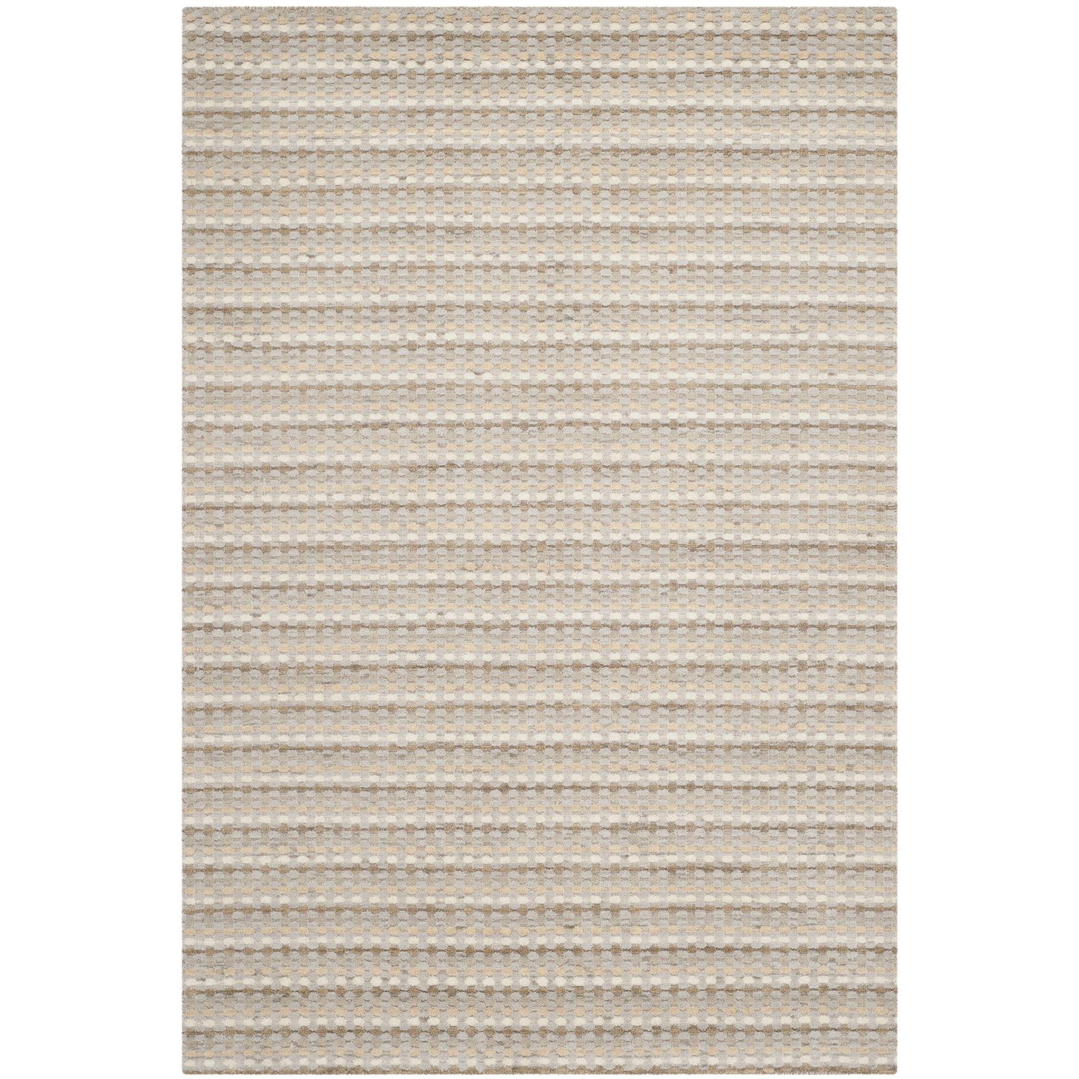 Keith Beige Stripe Area Rug Rug Size: Rectangle 4' x 6'