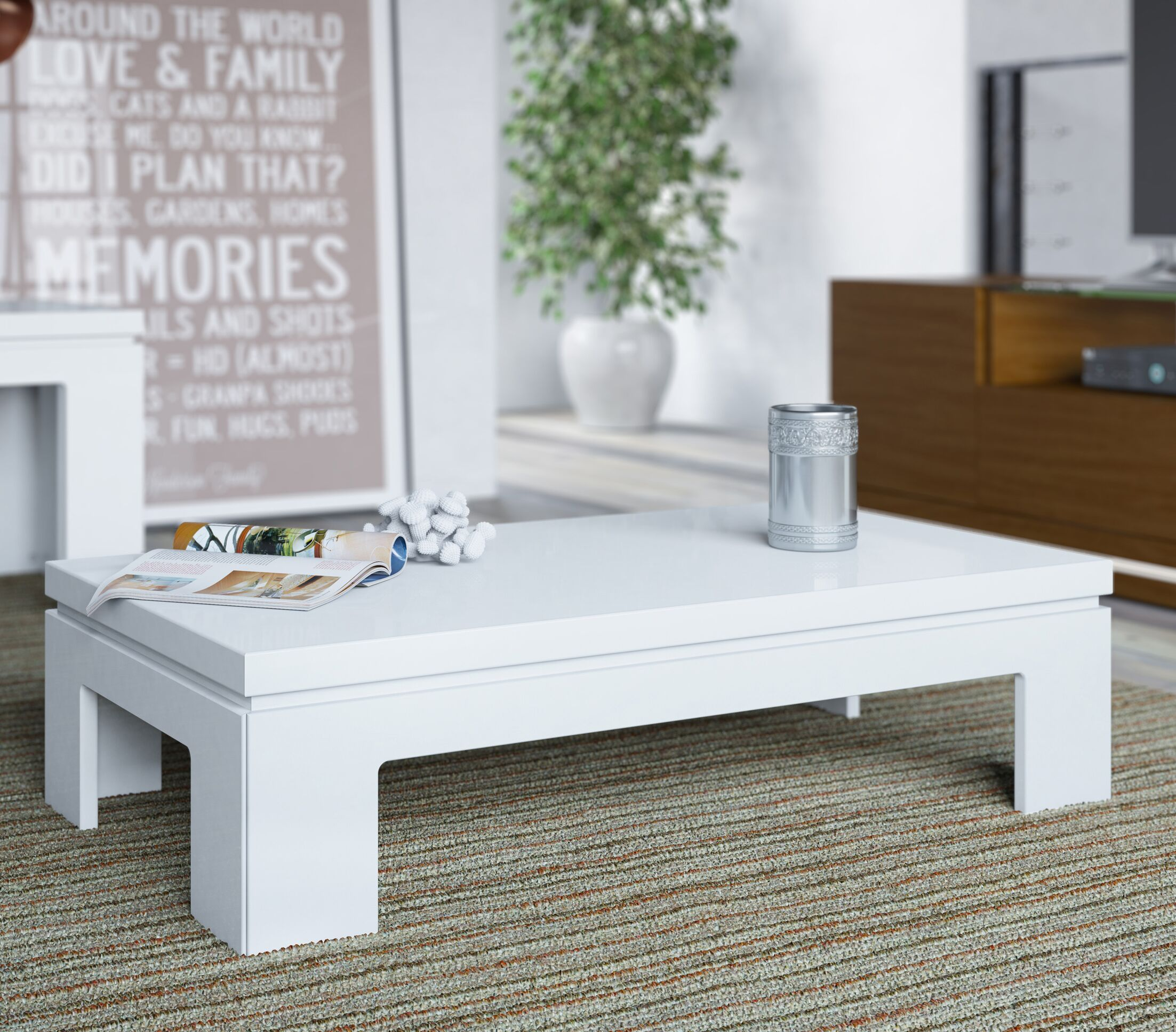 Belwood Coffee Table Color: White Gloss