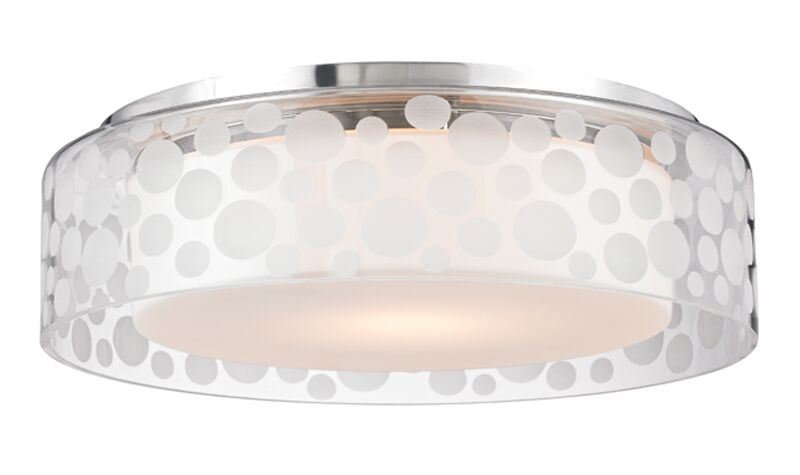 Elva 1-Light Semi Flush Mount Size: 4.25