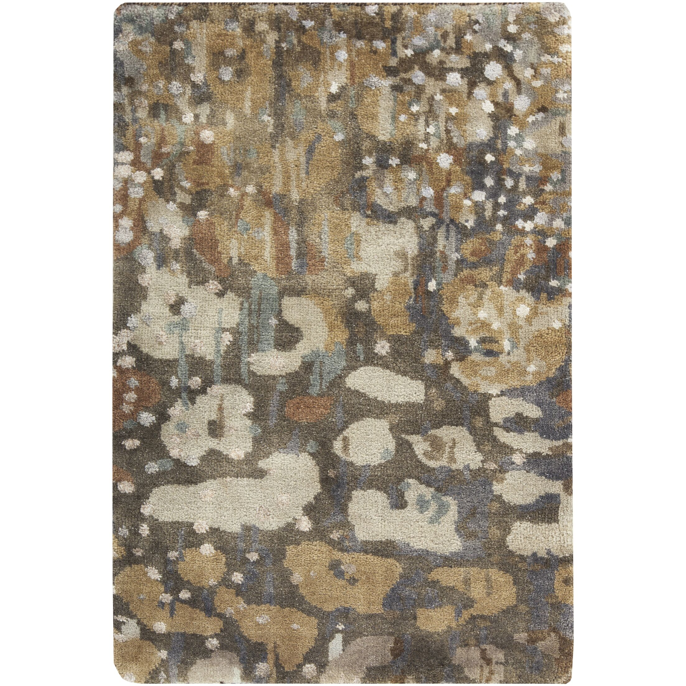 Eridani Hand-Knotted Dark Brown Area Rug Rug Size: Rectangle 5' x 8'
