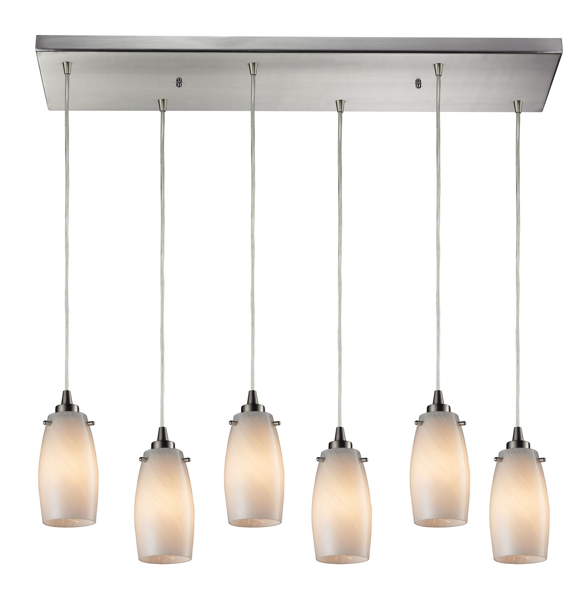 Wobner 6-Light Cluster Pendant