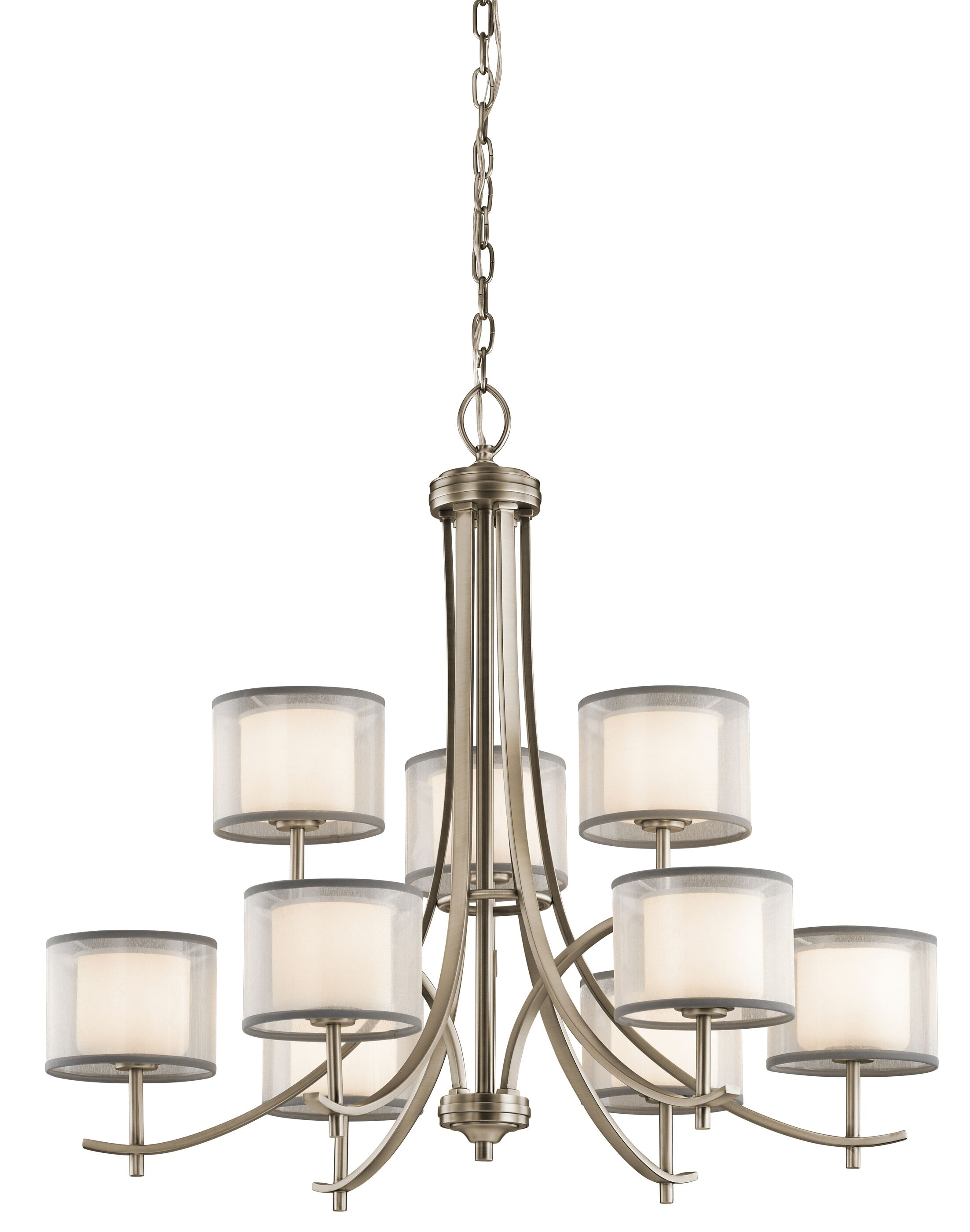 Ronald 9-Light Shaded Chandelier Finish: Antique Pewter