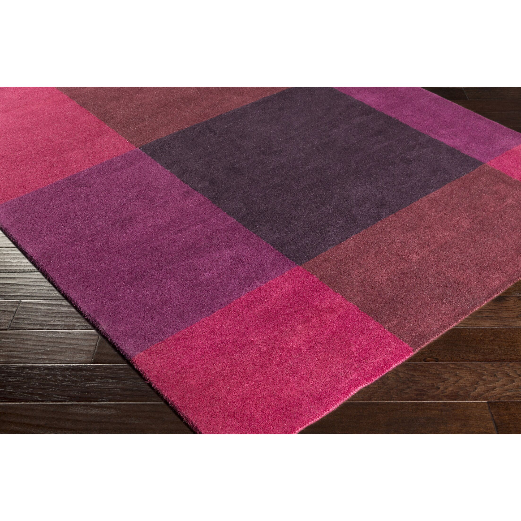 Mentzer Hand-Tufted Red/Purple Area Rug Rug Size: Rectangle 2' x 3'