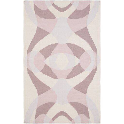 Aikens Hand-Woven Pink/Purple Area Rug Rug Size: Rectangle 8' x 10'