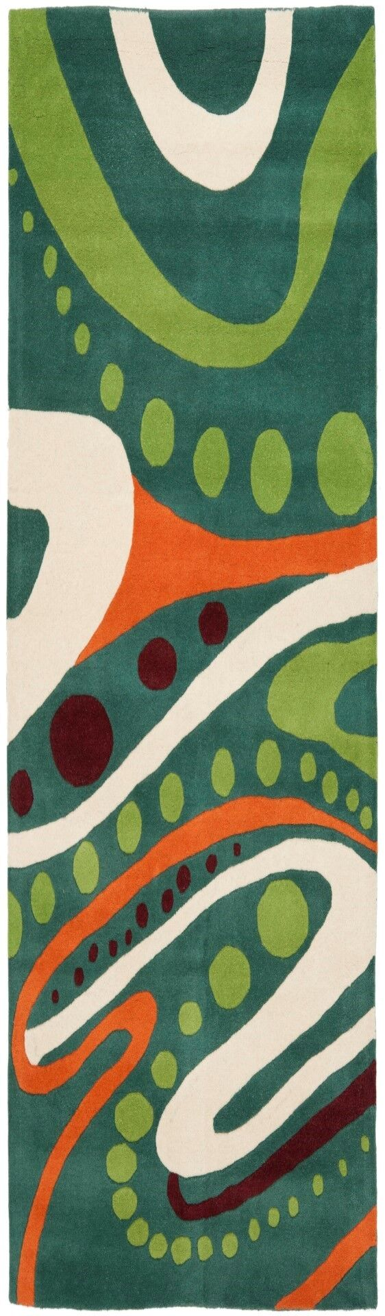 Woodburn Hand-Tufted Teal Area Rug Rug Size: Rectangle 9' x 12'