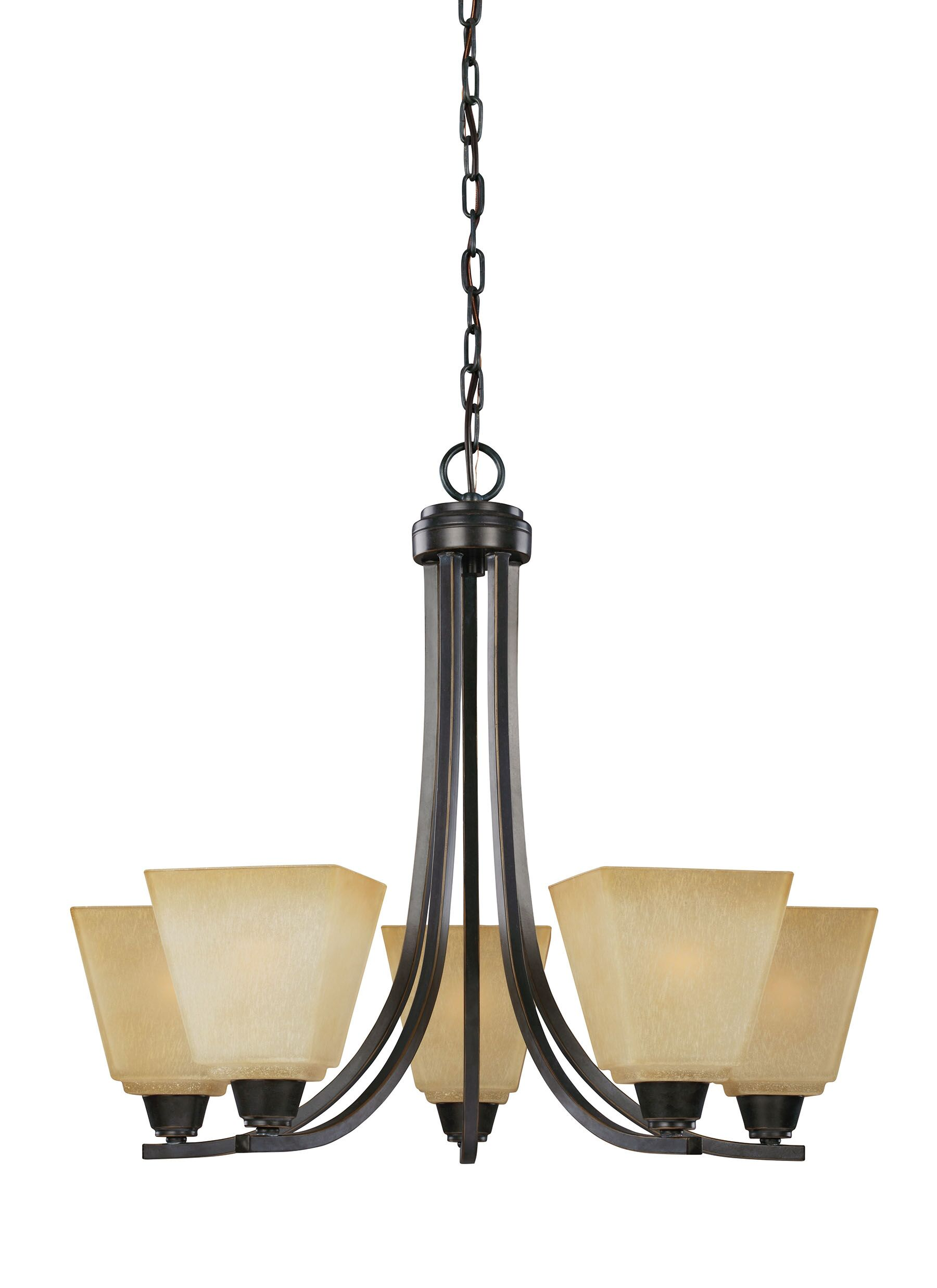 Filson 5-Light Shaded Chandelier Finish: Brushed Nickel, Bulb Type: Incandescent, Shade Color: White