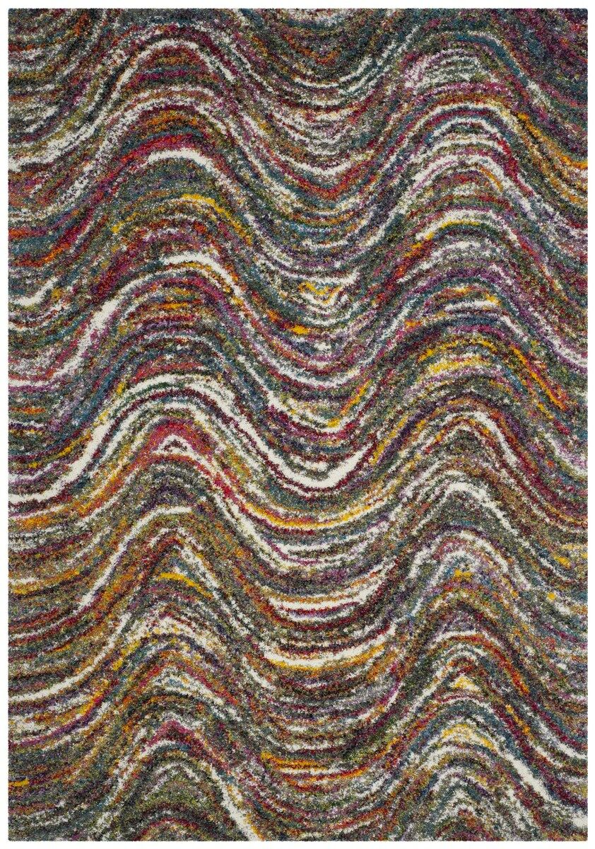 Gleno Red Area Rug Rug Size: Rectangle 5'1