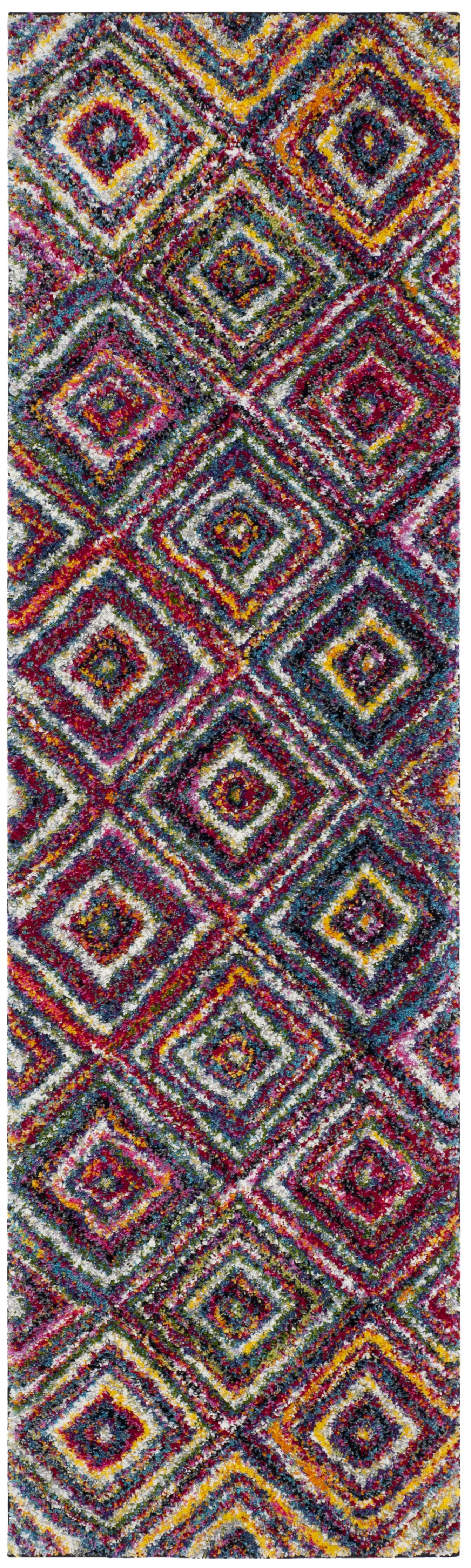Gleno Red/Yellow Area Rug Rug Size: Runner 2'3