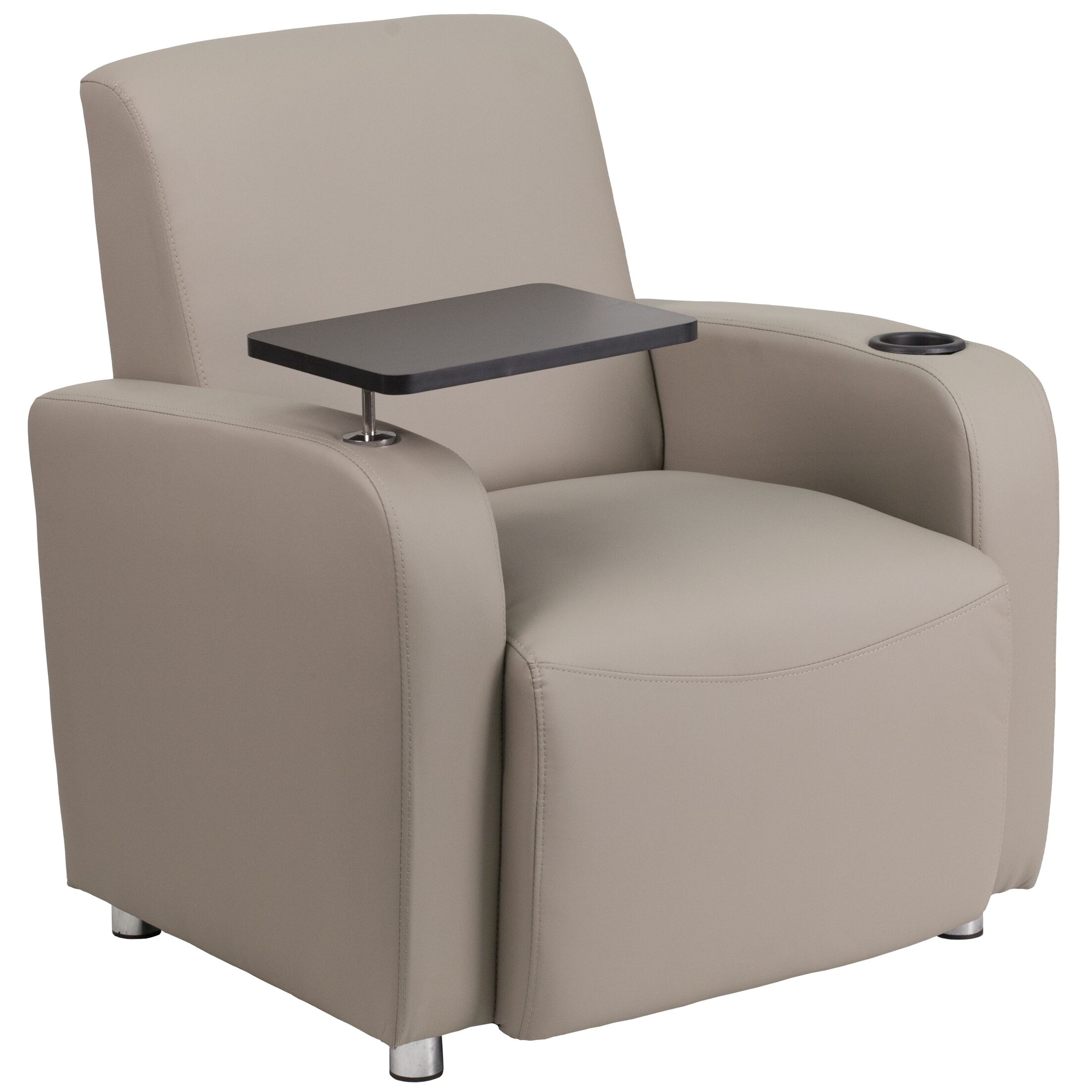South Perth Leather Guest Chair Color: Gray/Black