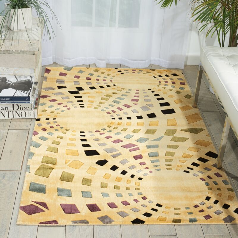 Beige Area Rug Rug Size: Rectangle 9'6