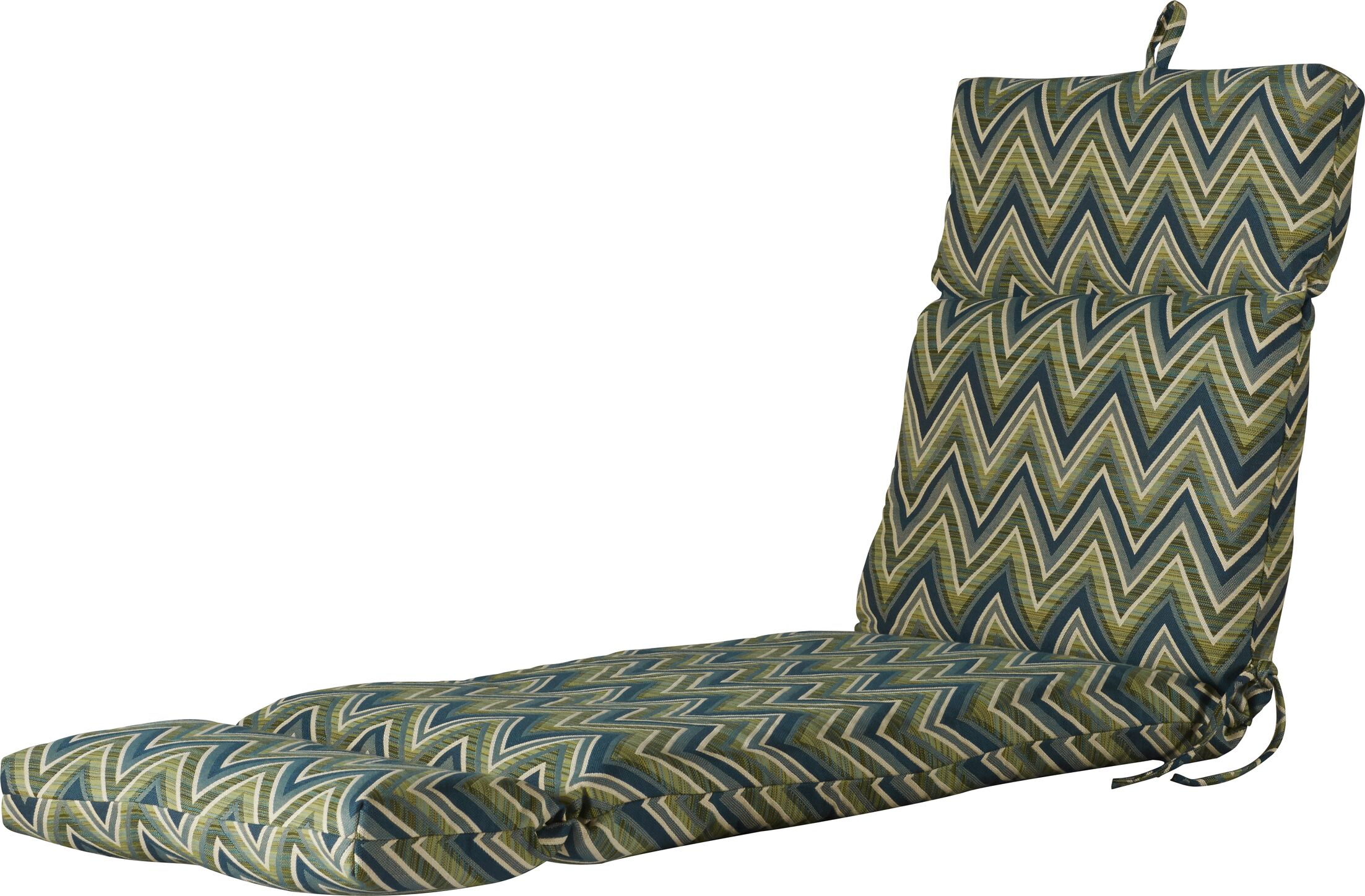 Indoor/Outdoor Sunbrella Chaise Lounge Cushion Fabric: Fisher Lagoon