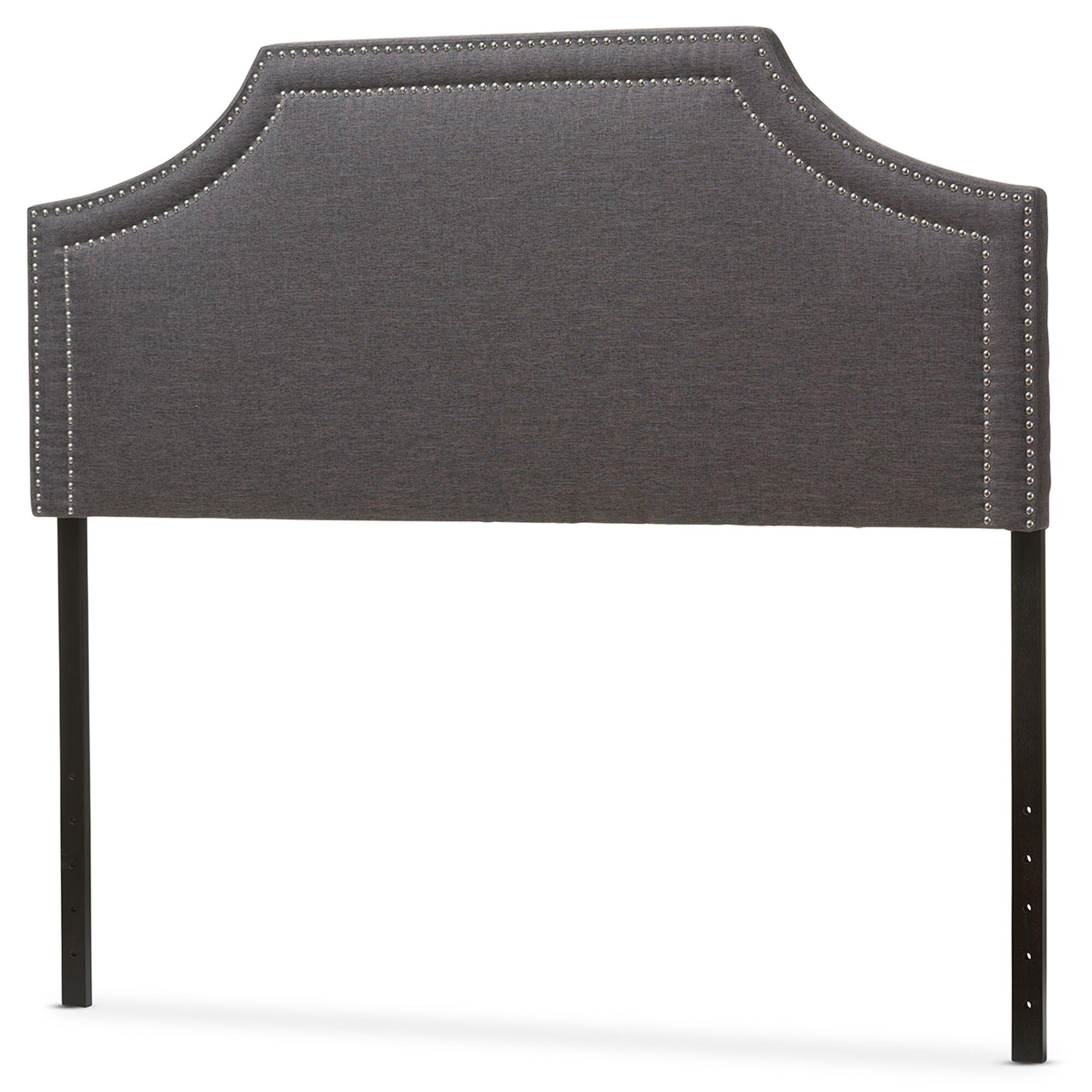Albee Upholstered Panel Headboard Upholstery: Dark Gray, Size: King