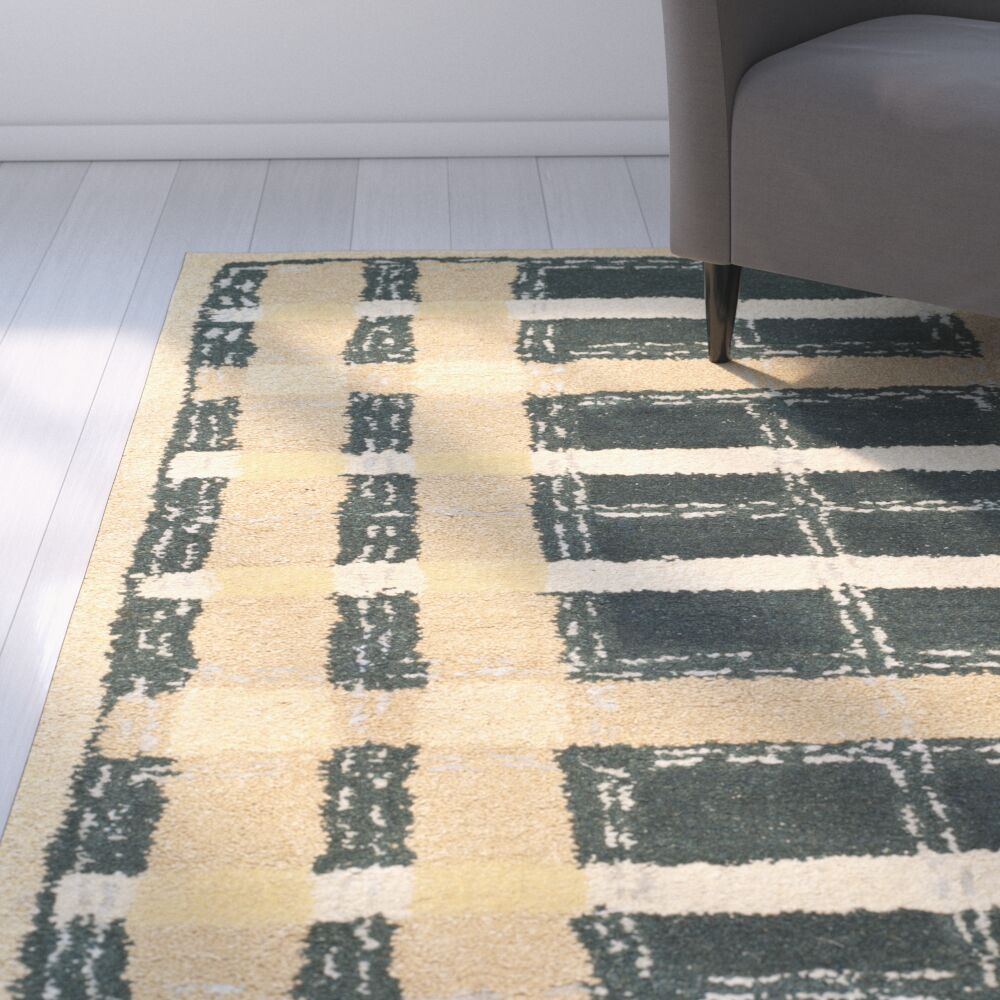 Hand-Tufted Cornucopia Gold Area Rug Rug Size: Rectangle 4' x 6'