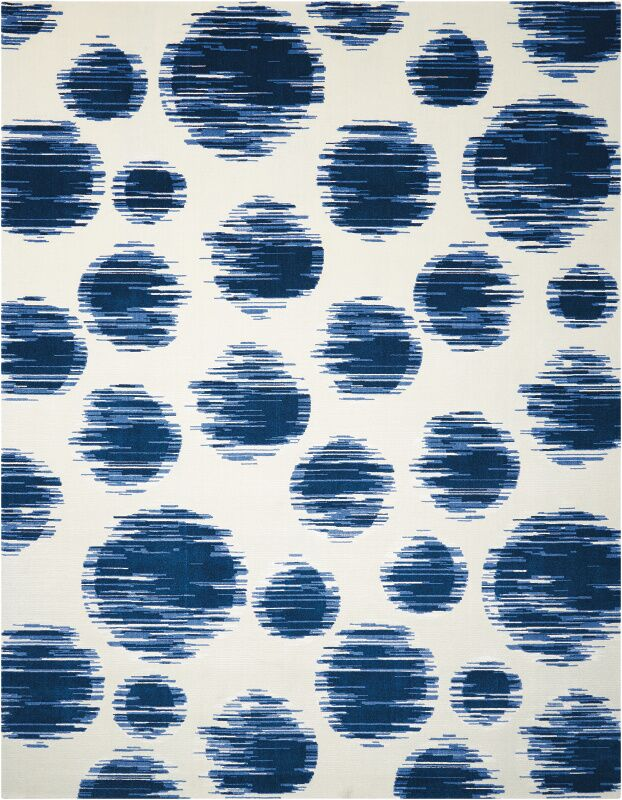 Antigua Ivory/Blue Area Rug Rug Size: Rectangle 12' x 15'