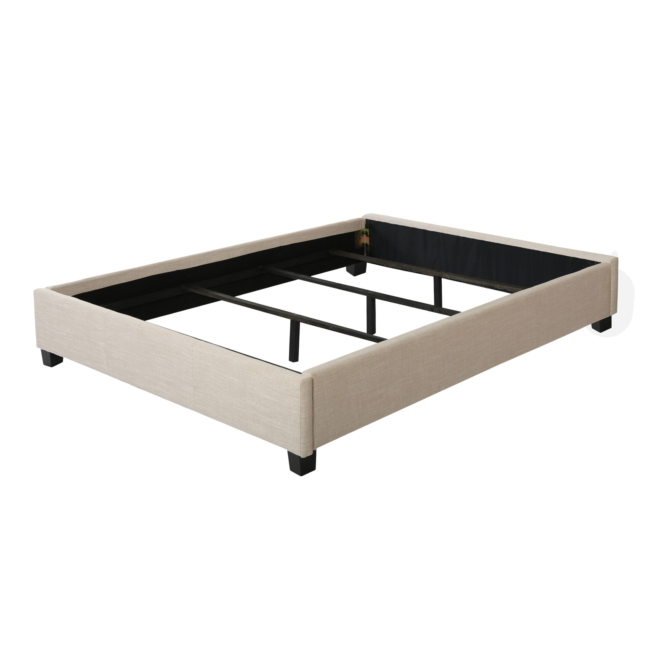 Almondsbury Bed Frame Size: King, Color: Light Gray