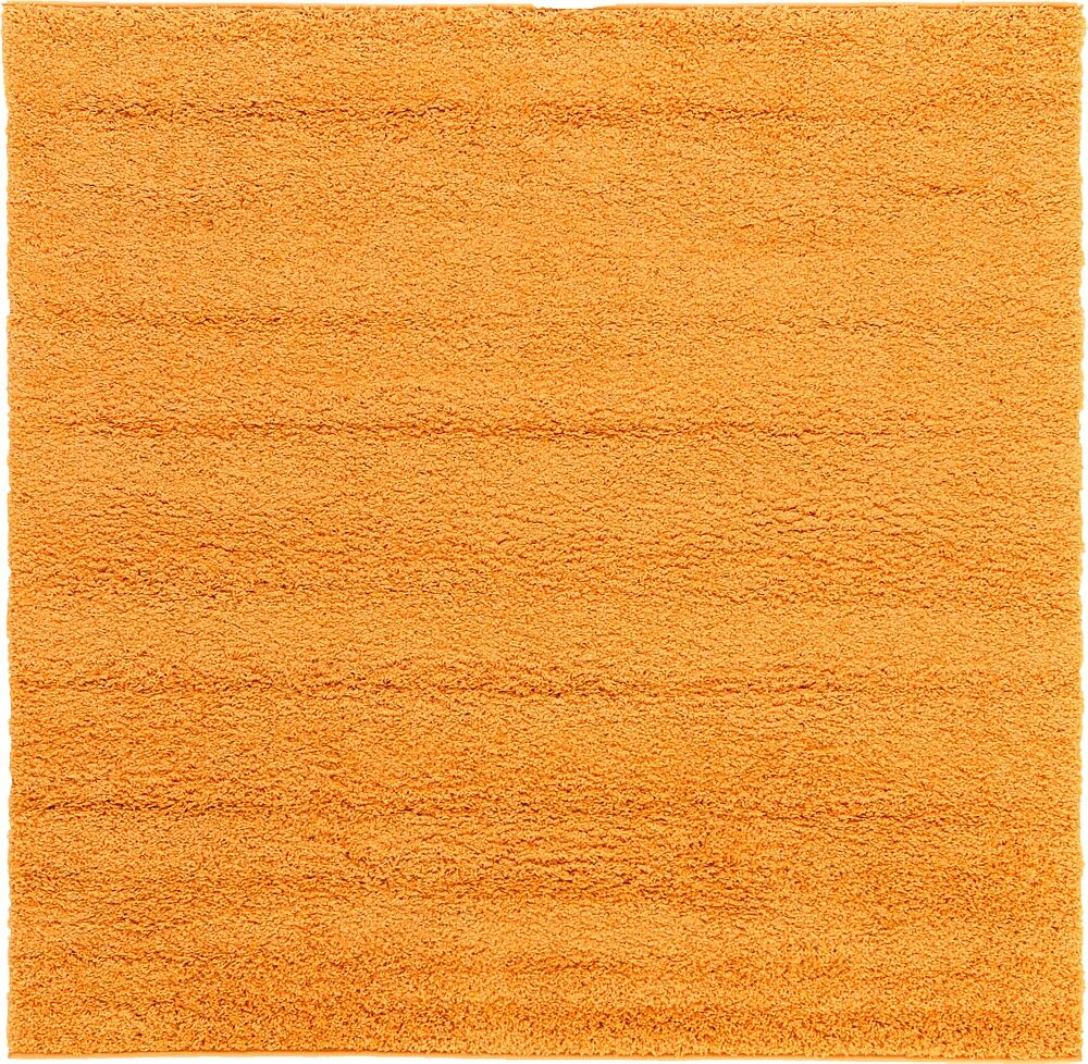 Maxine Orange Area Rug Rug Size: Round 6'