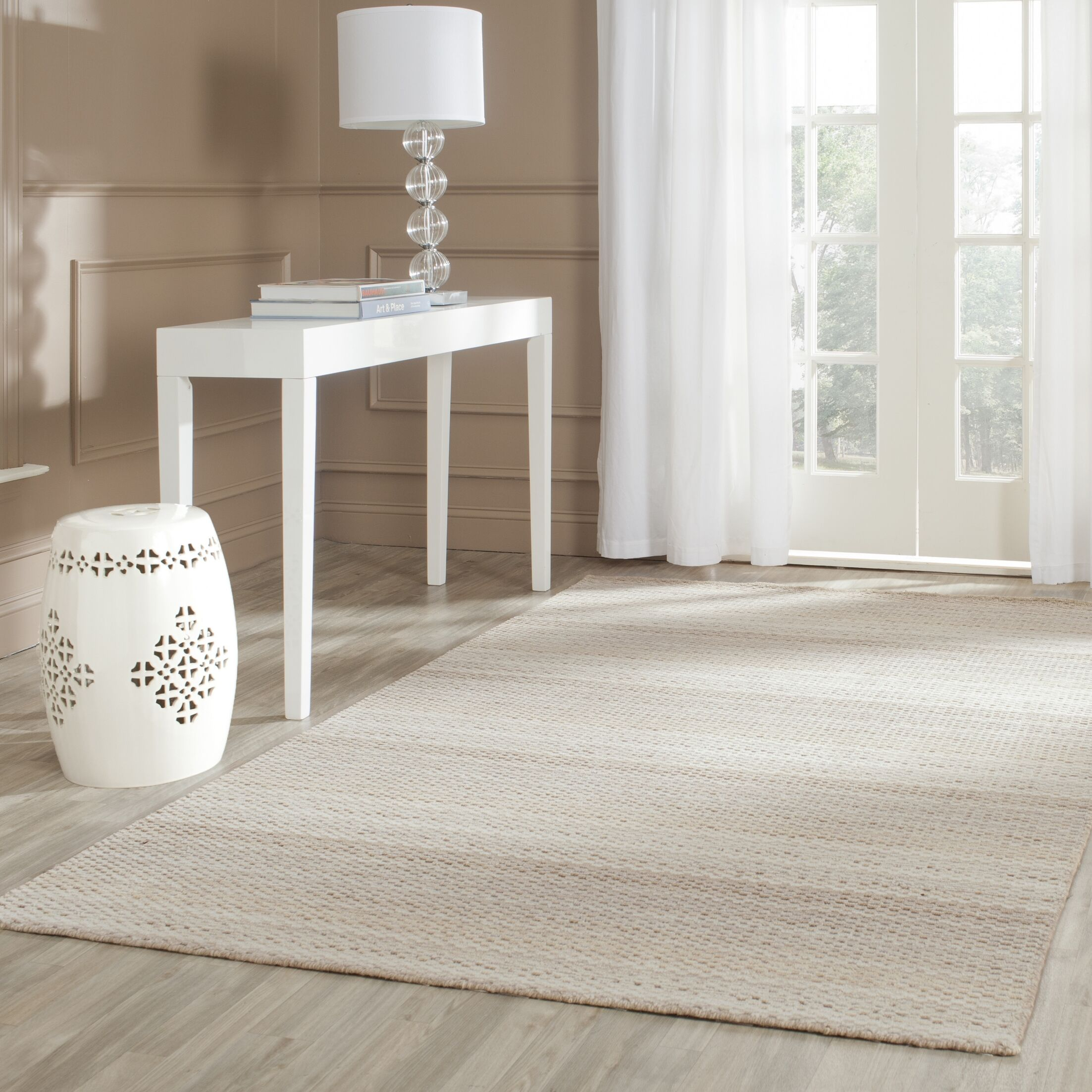 Keith Beige Stripes Area Rug Rug Size: Rectangle 4' x 6'