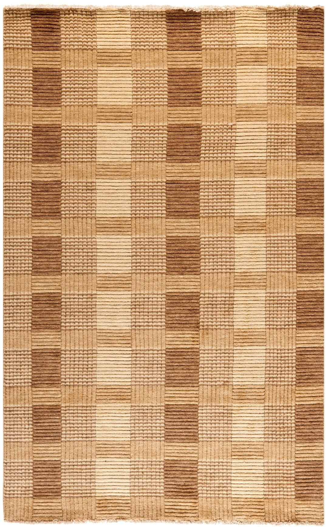 Apple Creek Hand-Knotted Brown Area Rug Rug Size: Runner 2' x 8'
