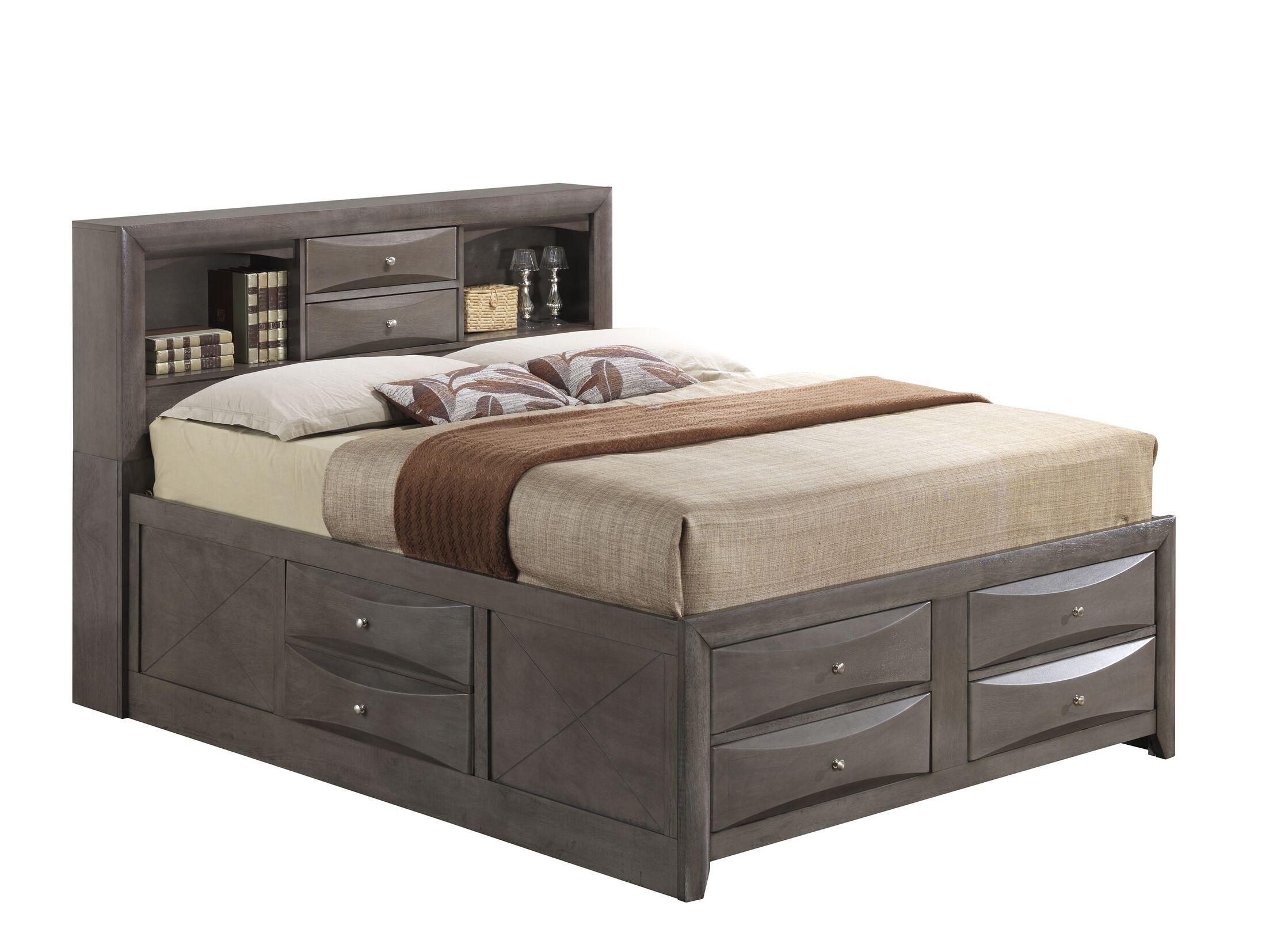 Medford Storage Platform Bed Size: Full, Color: Gray