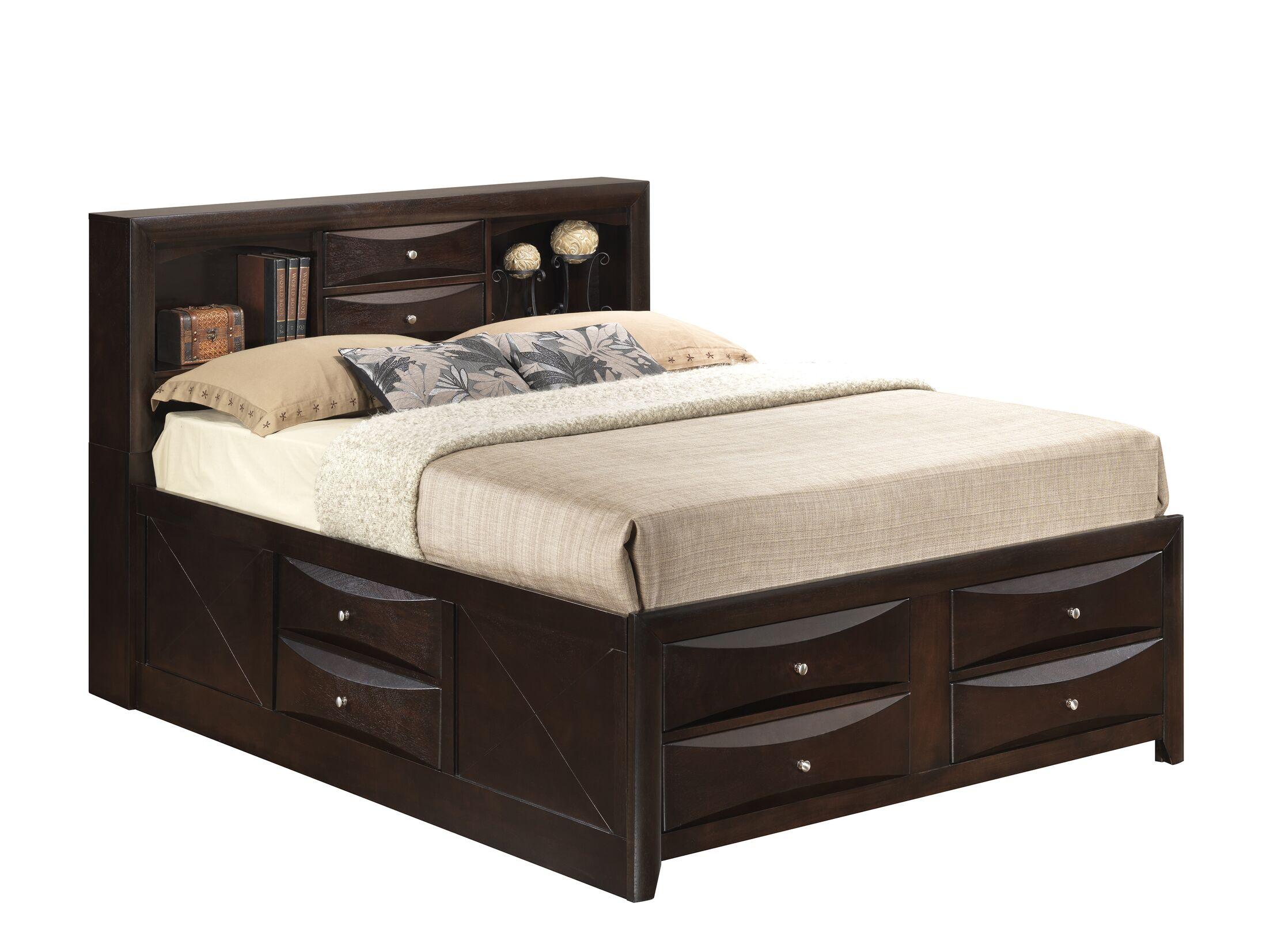 Medford Storage Platform Bed Size: Full, Color: Cappuccino