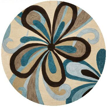Satsuma Hand-Tufted Sand/Teal Area Rug Rug Size: Rectangle 9' x 13'