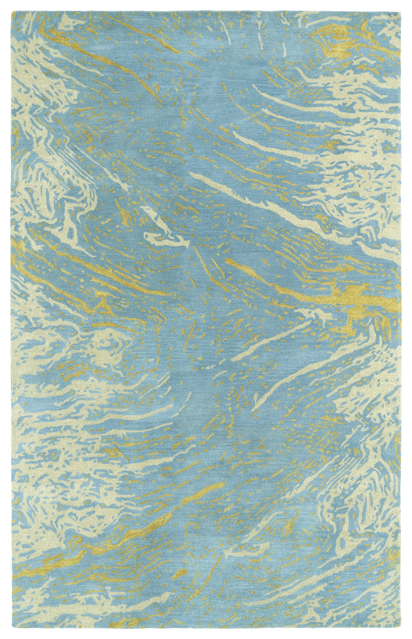 Virginis Blue Area Rug Rug Size: Rectangle 5' x 7'9