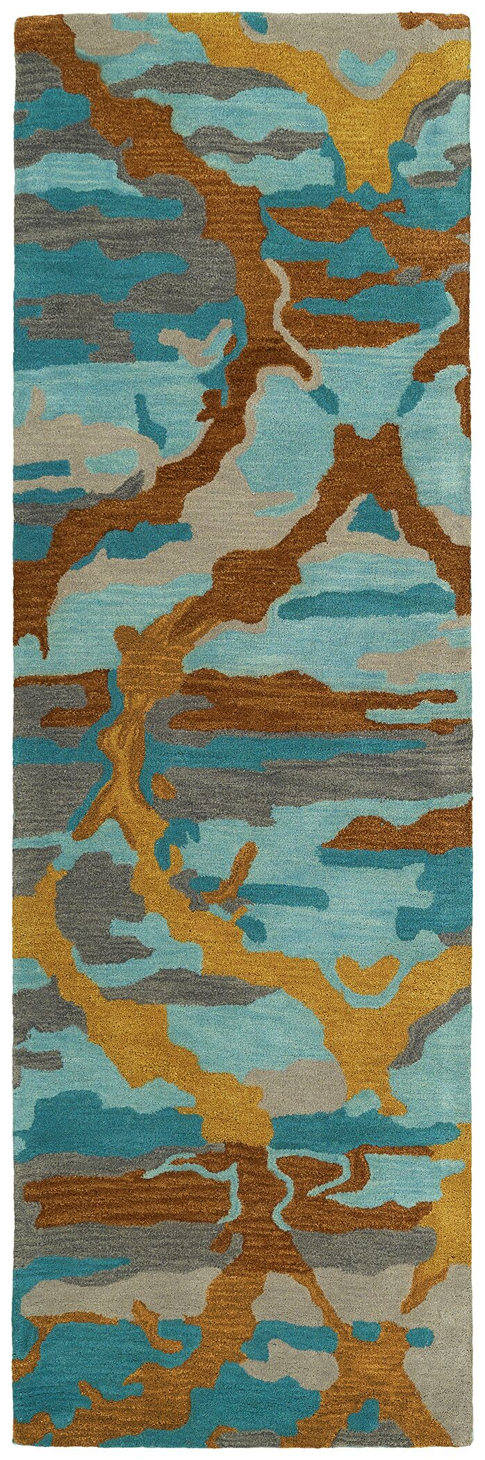 Virginis Teal Area Rug Rug Size: Rectangle 9'6