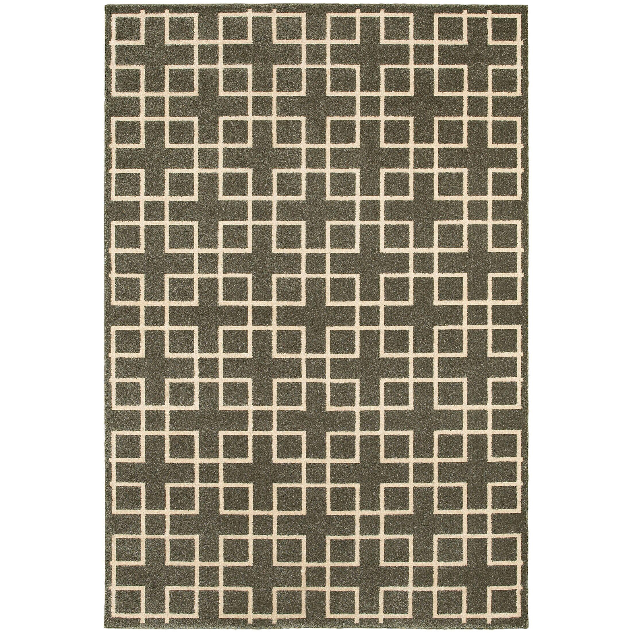 Albrecht Grey/Ivory Area Rug Rug Size: Rectangle 3'10