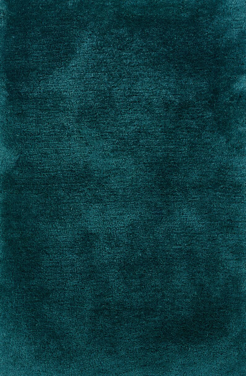Albritton Hand-made Teal Area Rug Rug Size: Rectangle 6'6